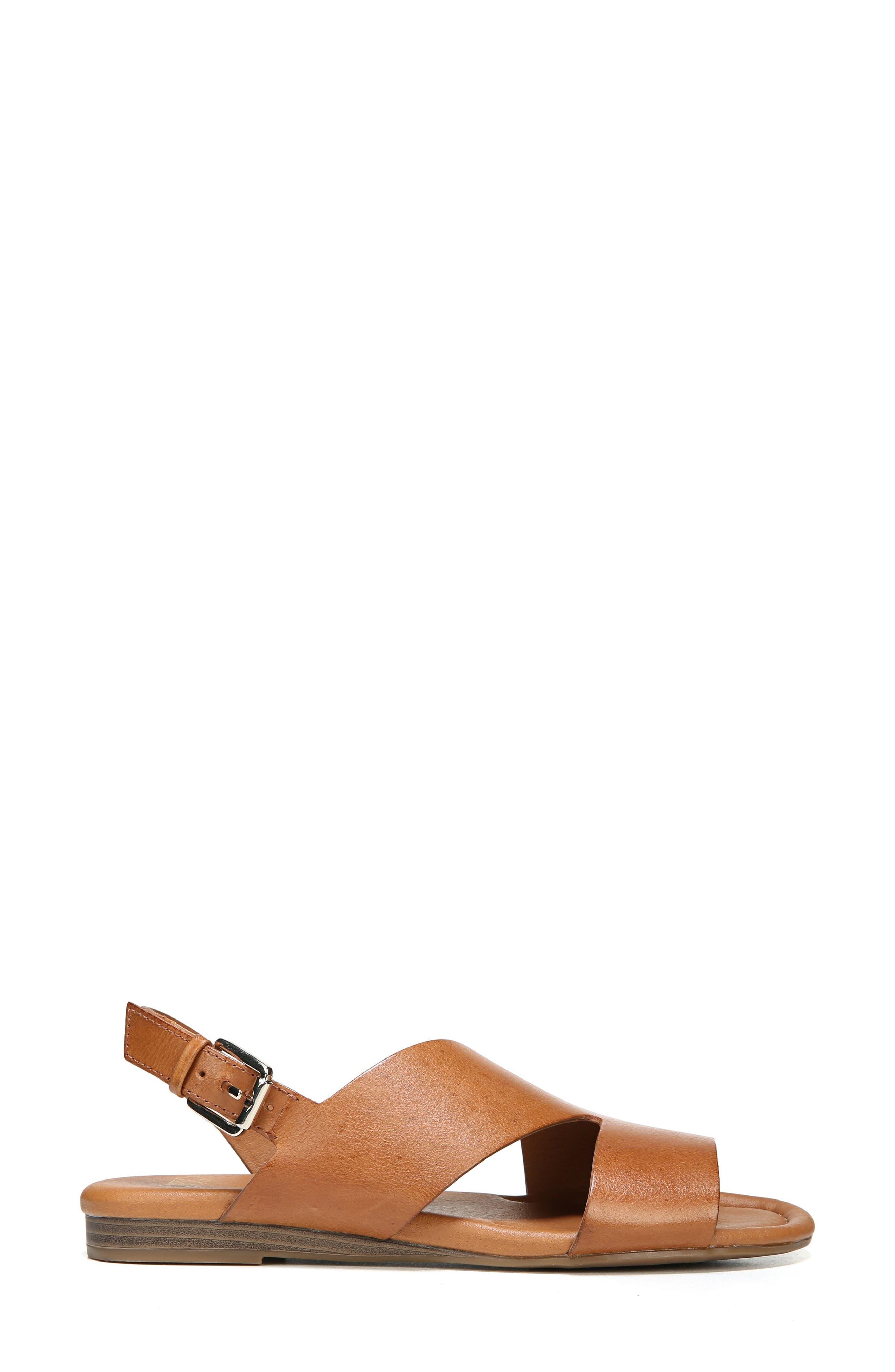 Garza Slingback Sandal,                             Alternate thumbnail 3, color,                             Tan Leather