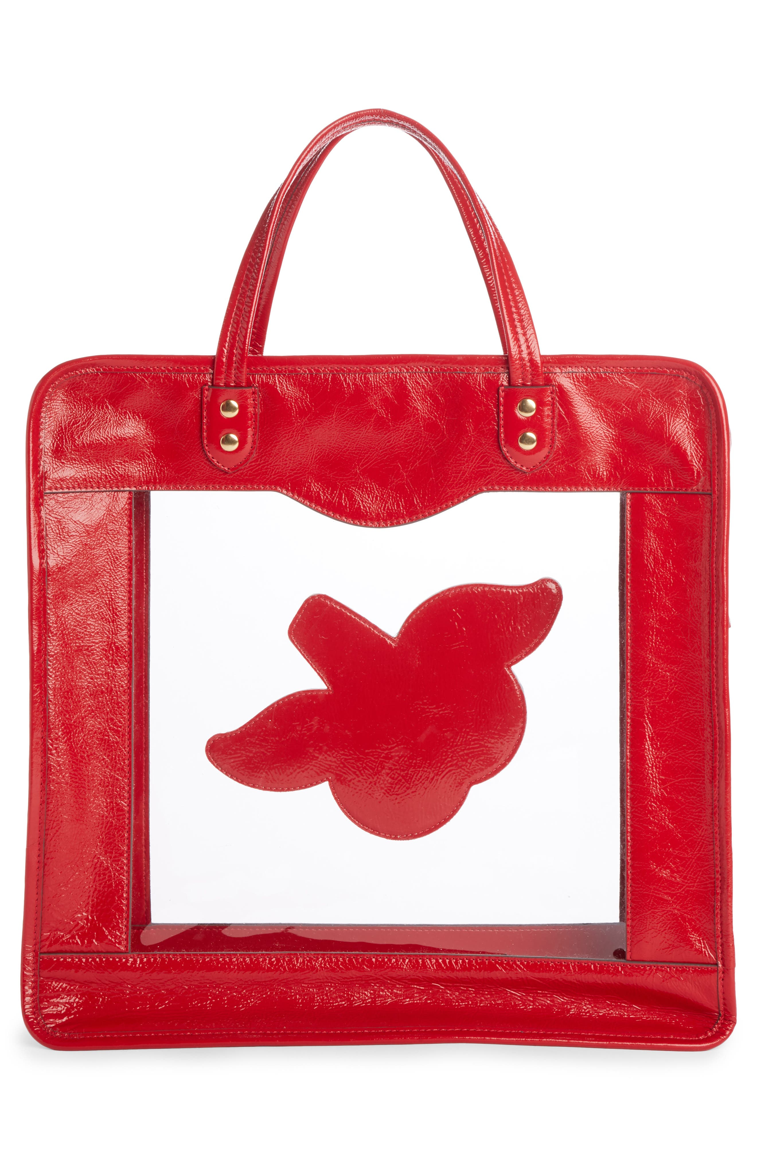 Rainy Day Cherries Tote,                             Alternate thumbnail 2, color,                             Red