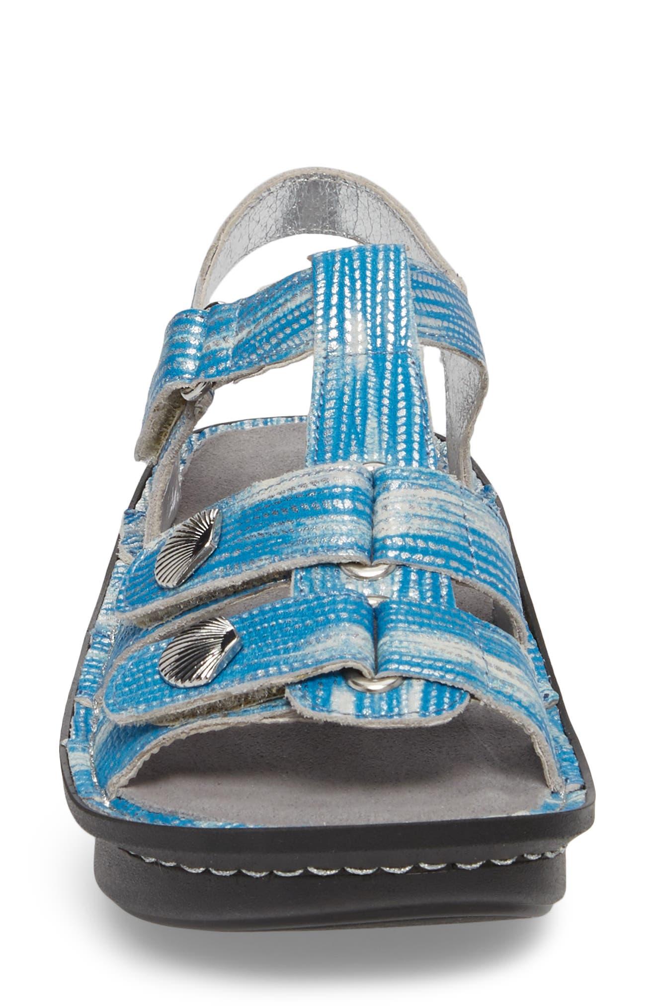 'Kleo' Sandal,                             Alternate thumbnail 4, color,                             Wrapture Blues Leather