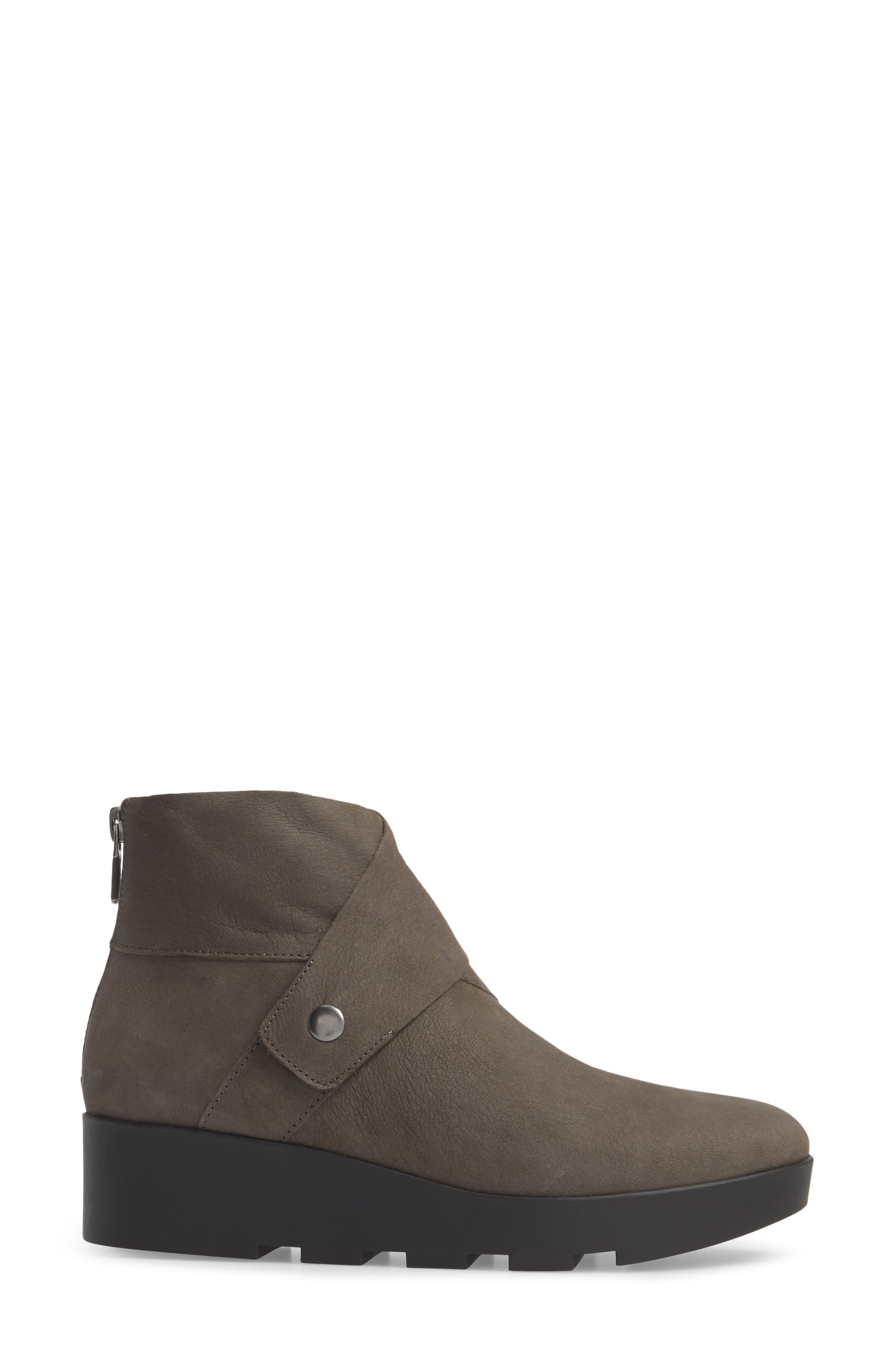 Tread Wedge Bootie,                             Alternate thumbnail 3, color,                             Graphite Nubuck