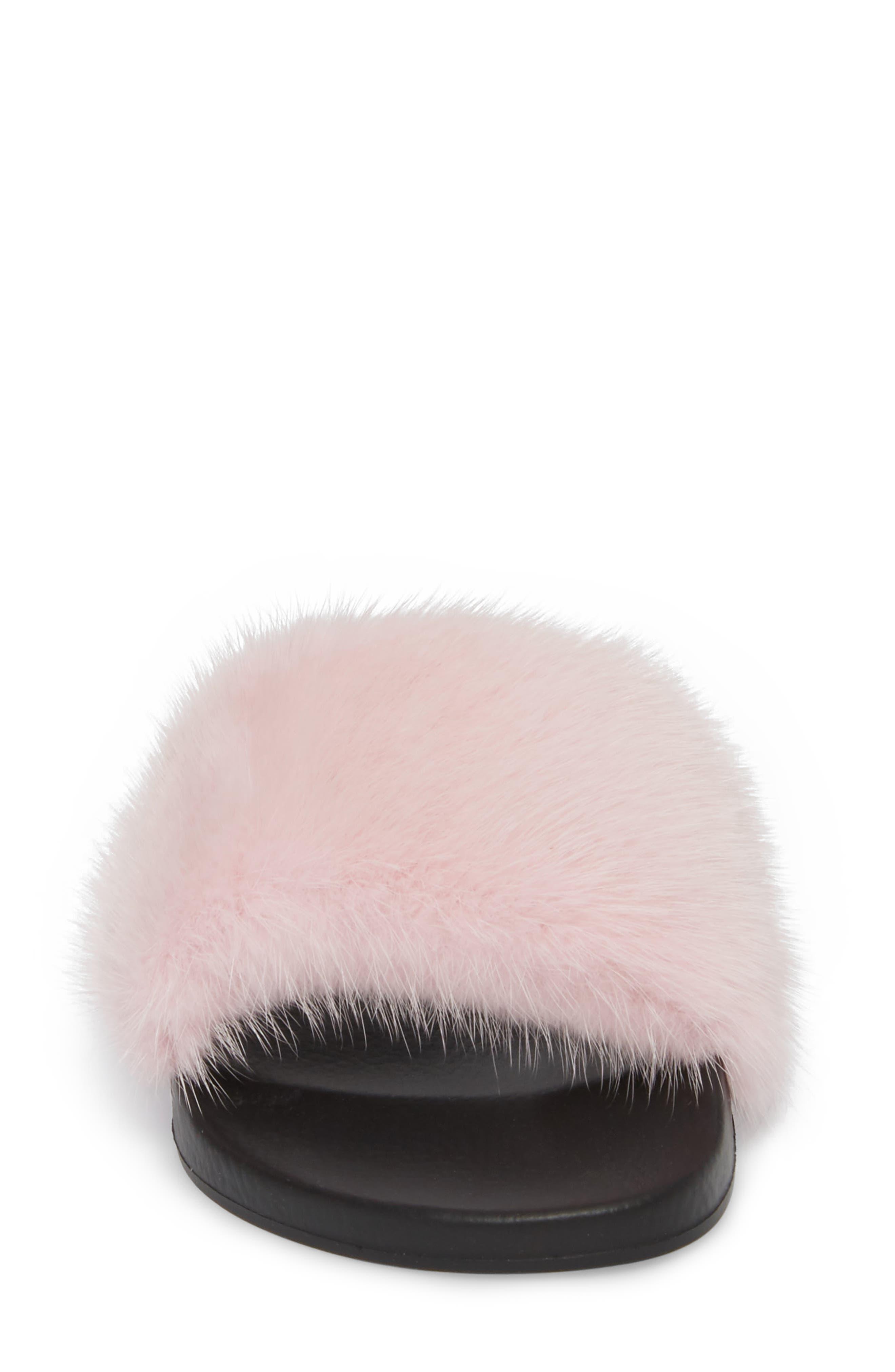 Alternate Image 4  - Givenchy Genuine Mink Fur Slide Sandal (Women)