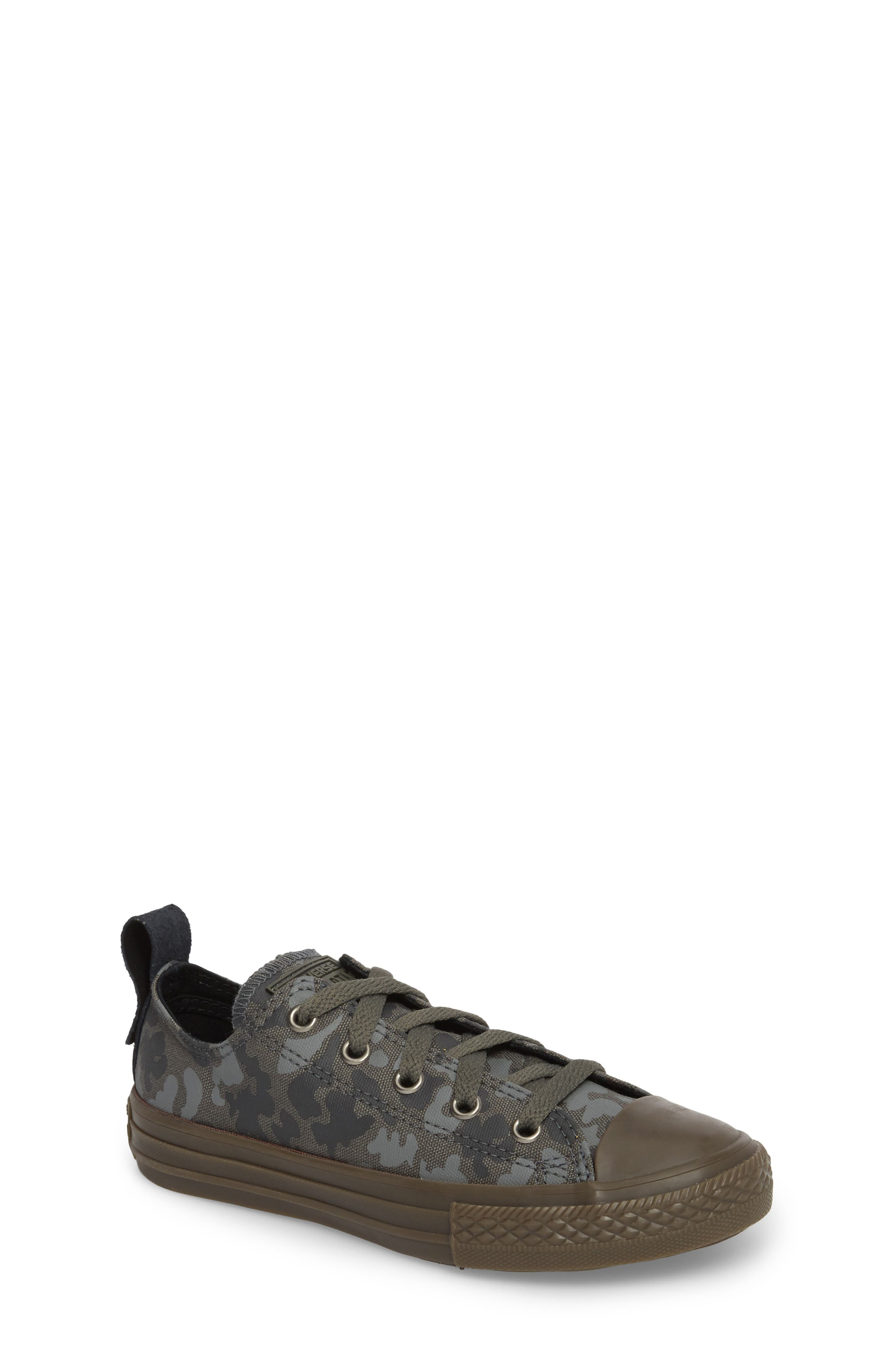 Big boys converse shoes sizes 35 7 nordstrom converse chuck taylor all star camo ox low top sneaker toddler little geenschuldenfo Choice Image