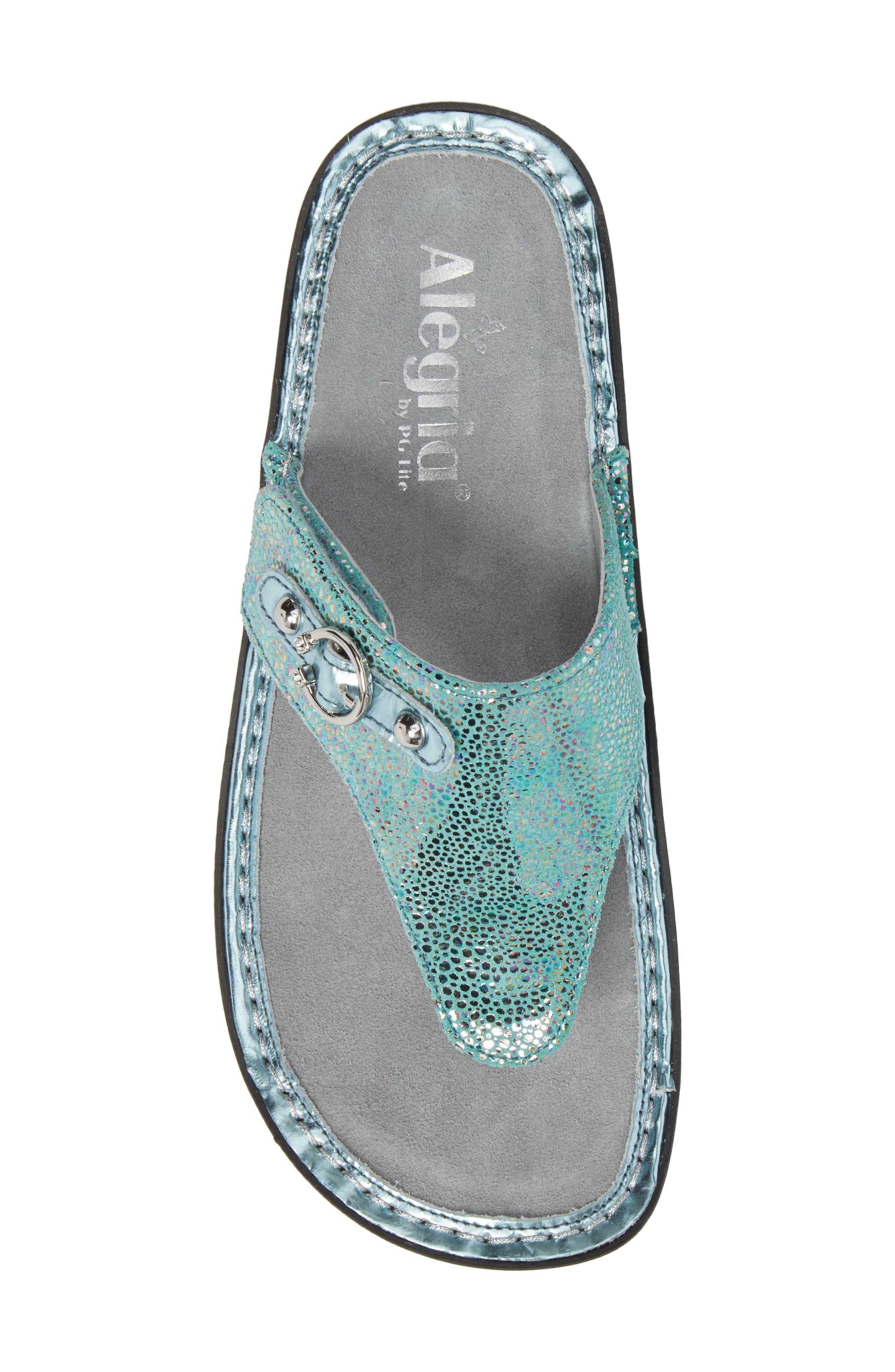 'Vanessa' Thong Sandal,                             Alternate thumbnail 5, color,                             Aqua Love Leather
