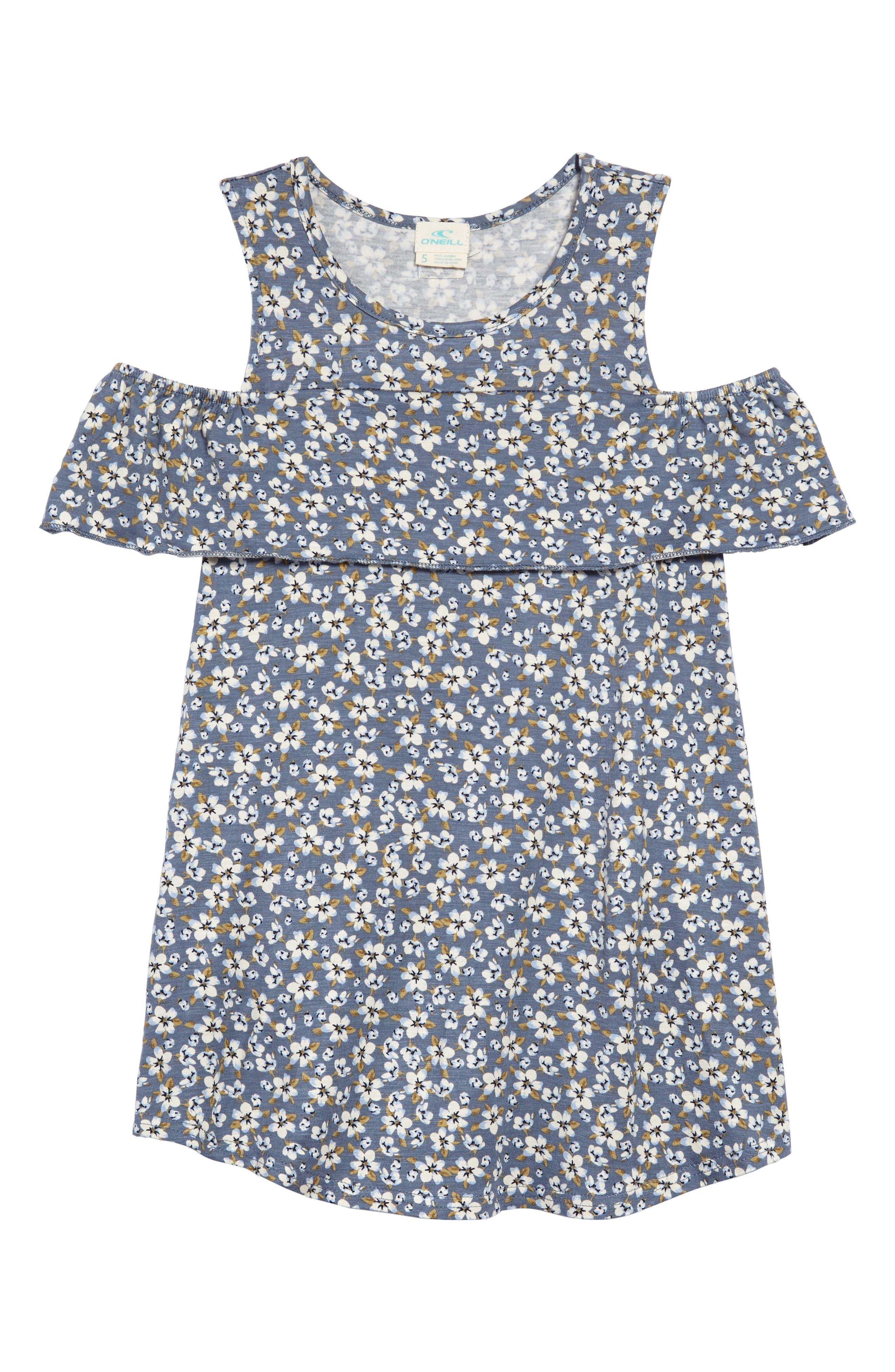Julia Cold Shoulder Dress,                             Main thumbnail 1, color,                             Flint Ston