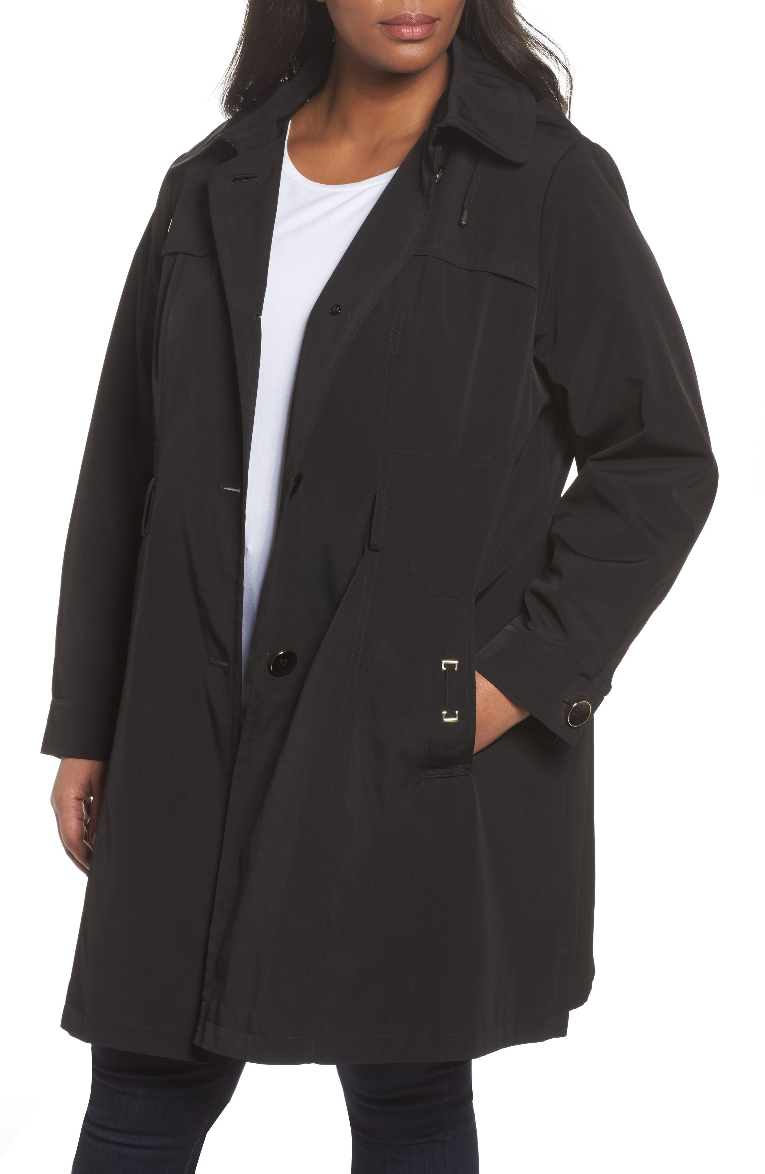 Alternate Image 4  - Gallery Belted Trench Raincoat (Plus Size)