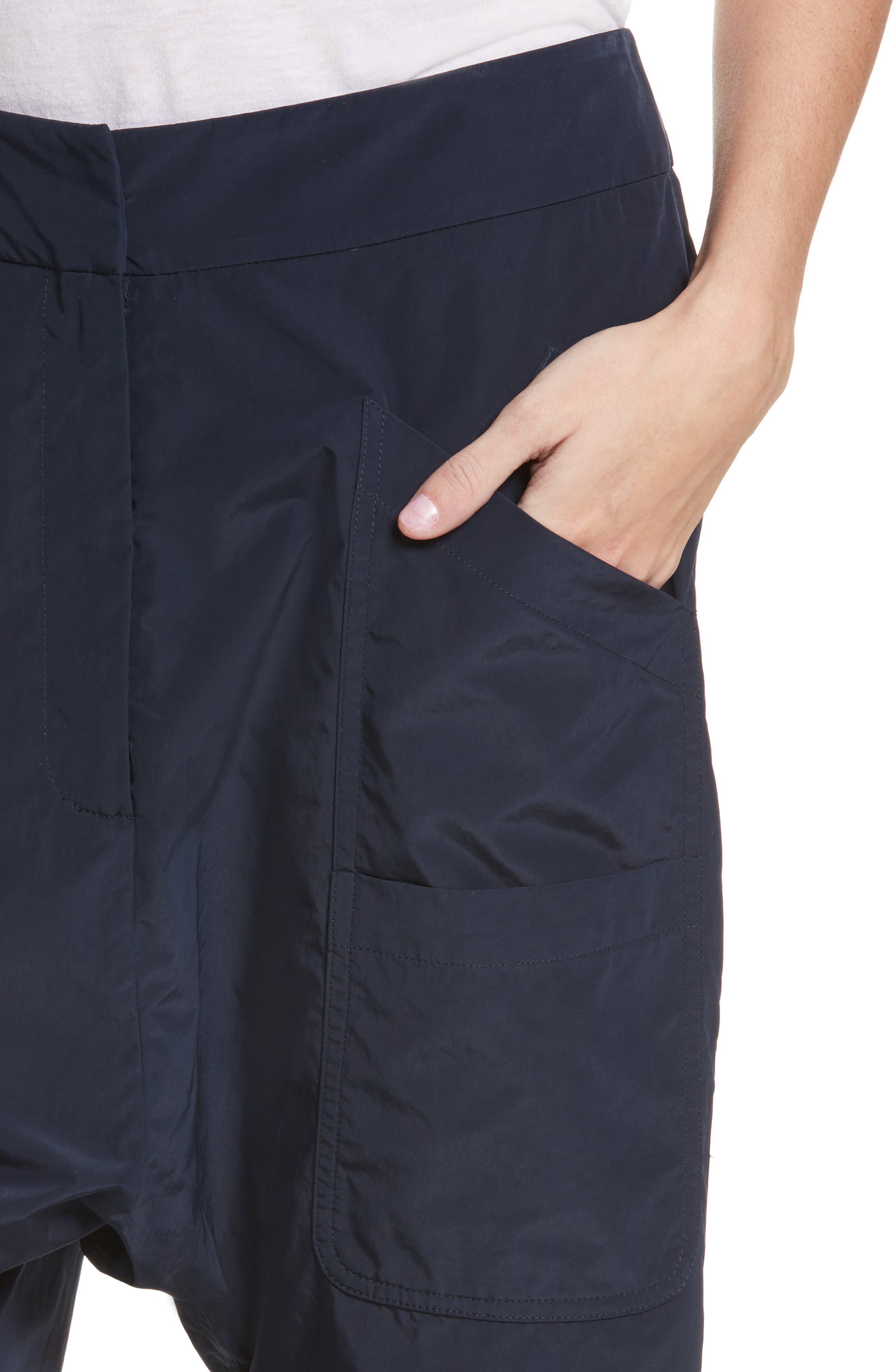Drop Crotch Shorts,                             Alternate thumbnail 4, color,                             Navy