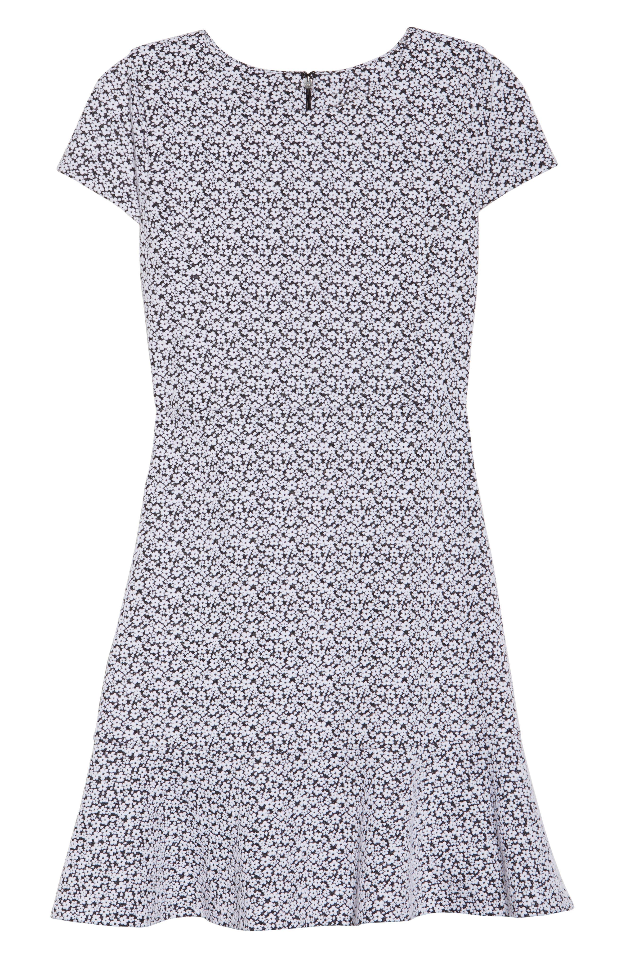 Alternate Image 6  - MICHAEL Michael Kors Floral Knit Jacquard Flounce Dress
