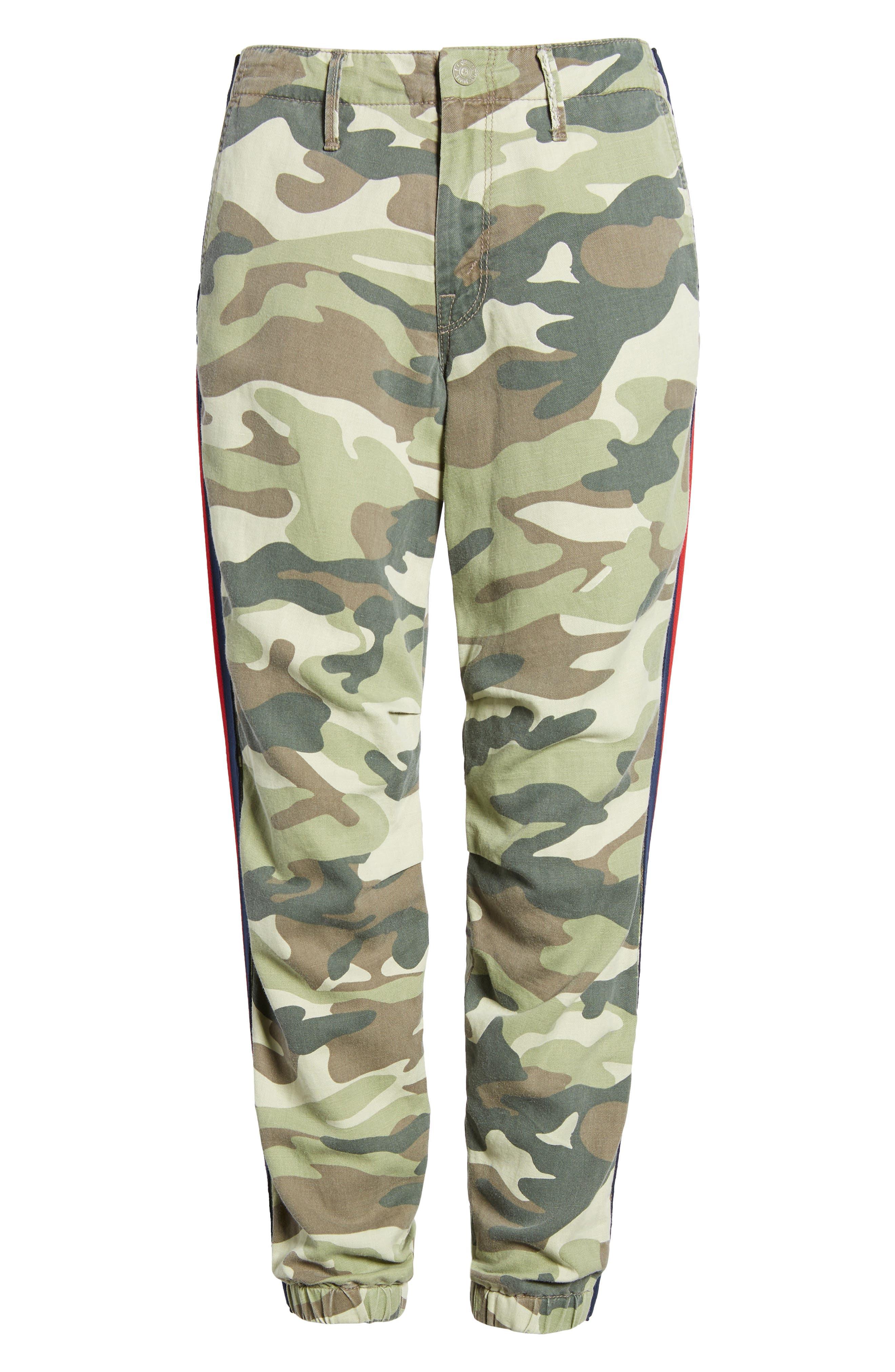 The Misfit Crop Pants,                             Alternate thumbnail 7, color,                             Camouflage