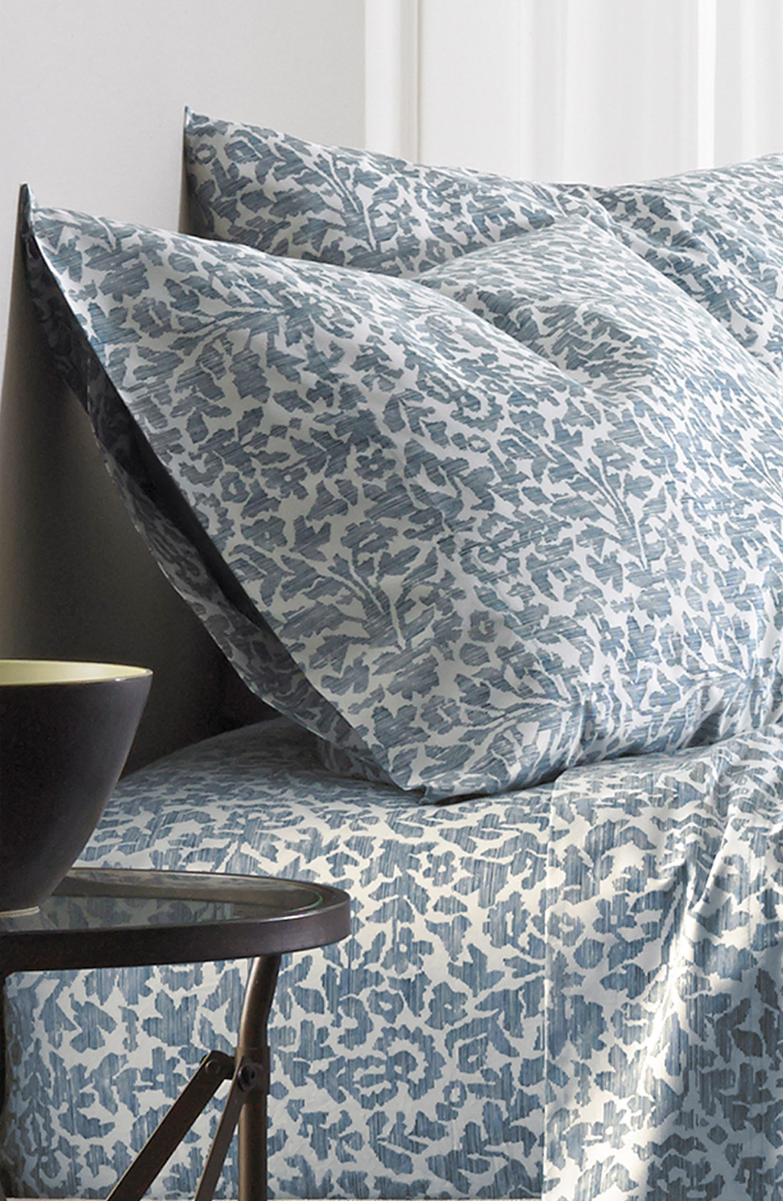 Oaxaca 300 Thread Count Pair of Pillowcases,                             Alternate thumbnail 4, color,                             Azure/ Turquoise/ Aqua