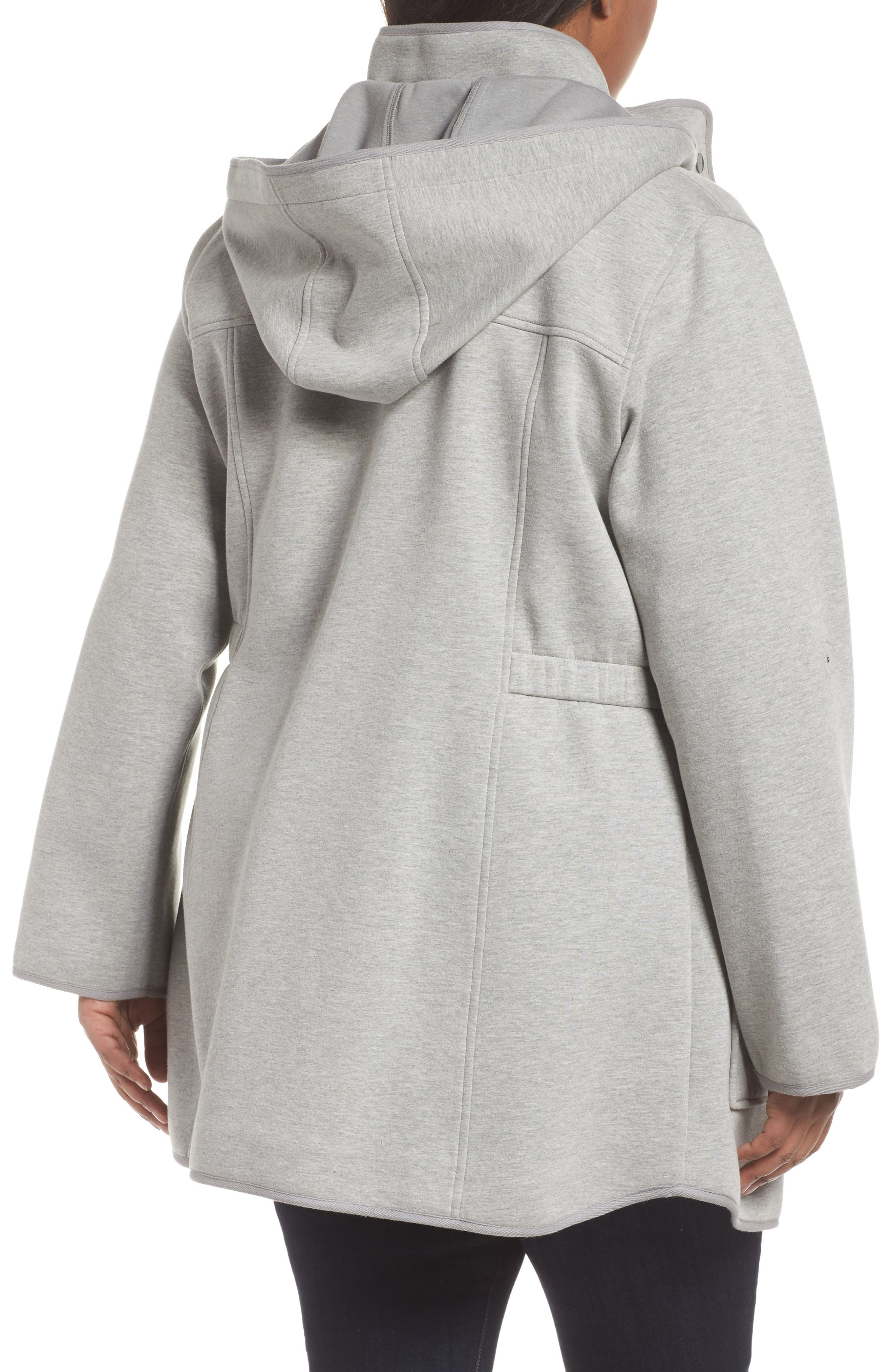 Alternate Image 2  - Gallery Hooded Knit Anorak (Plus Size)