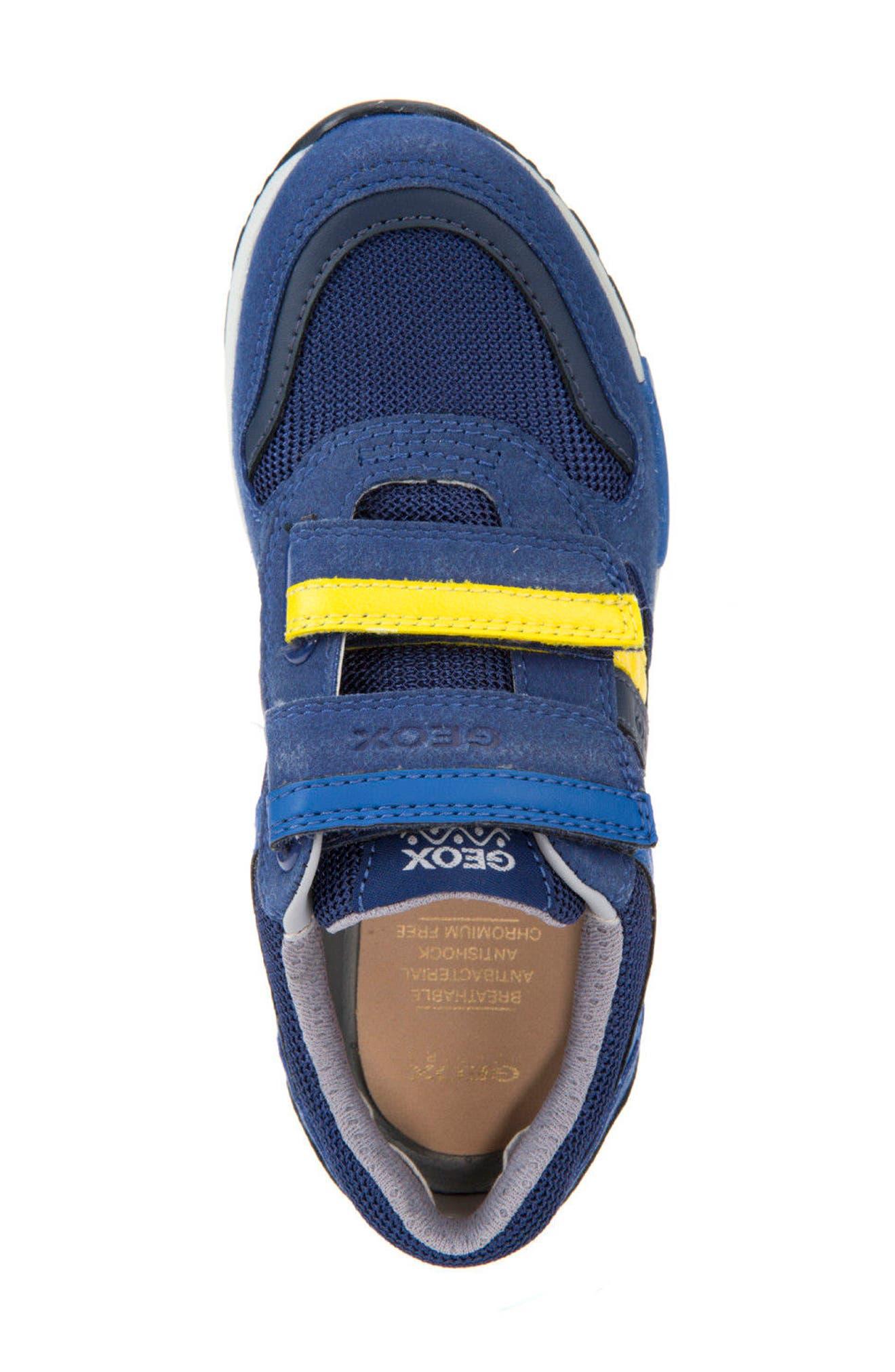Alfier Stripe Low Top Sneaker,                             Alternate thumbnail 5, color,                             Blue/ Yellow