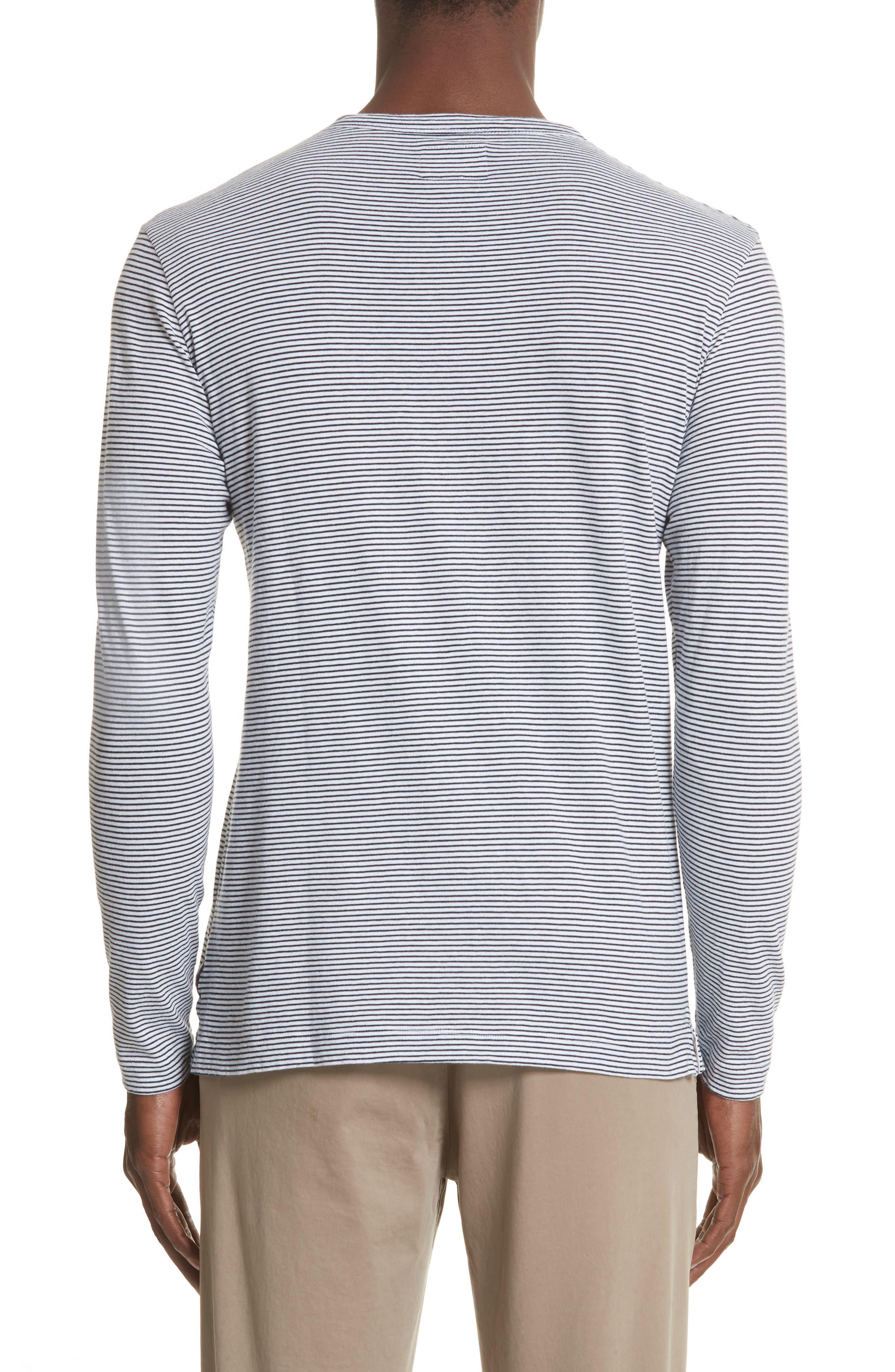 Todd Snyder Stripe Long Sleeve T-Shirt,                             Alternate thumbnail 2, color,                             Navy