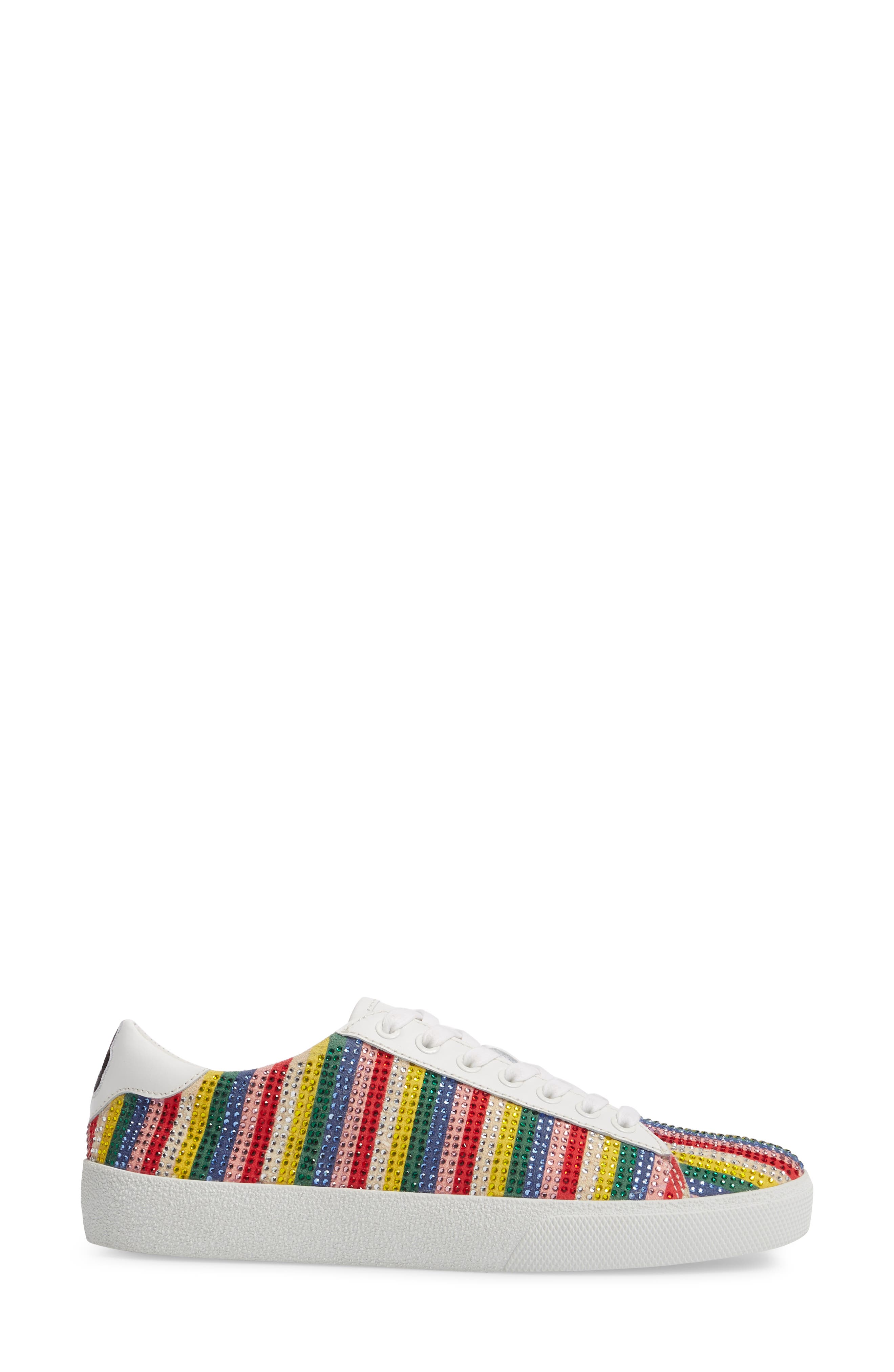 Cassidy Crystal Embellished Sneaker,                             Alternate thumbnail 3, color,                             Multi