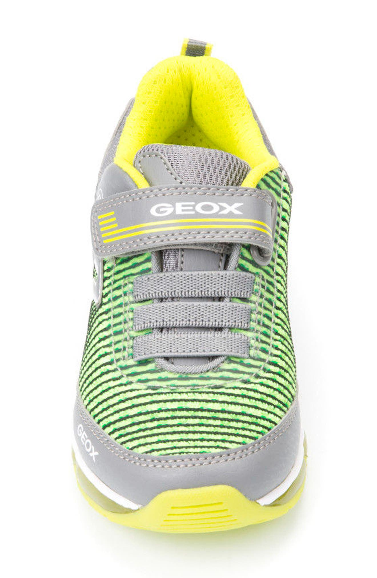 Android Light-Up Sneaker,                             Alternate thumbnail 4, color,                             Grey/ Lime