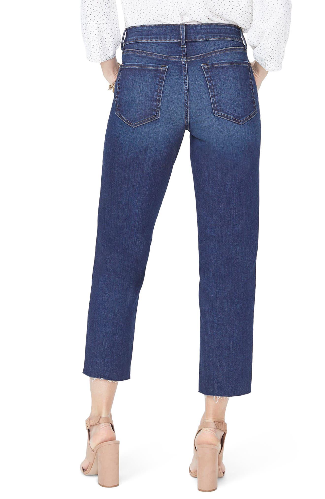 Jenna Straight Leg Raw Hem Ankle Jeans,                             Alternate thumbnail 2, color,                             Bezel
