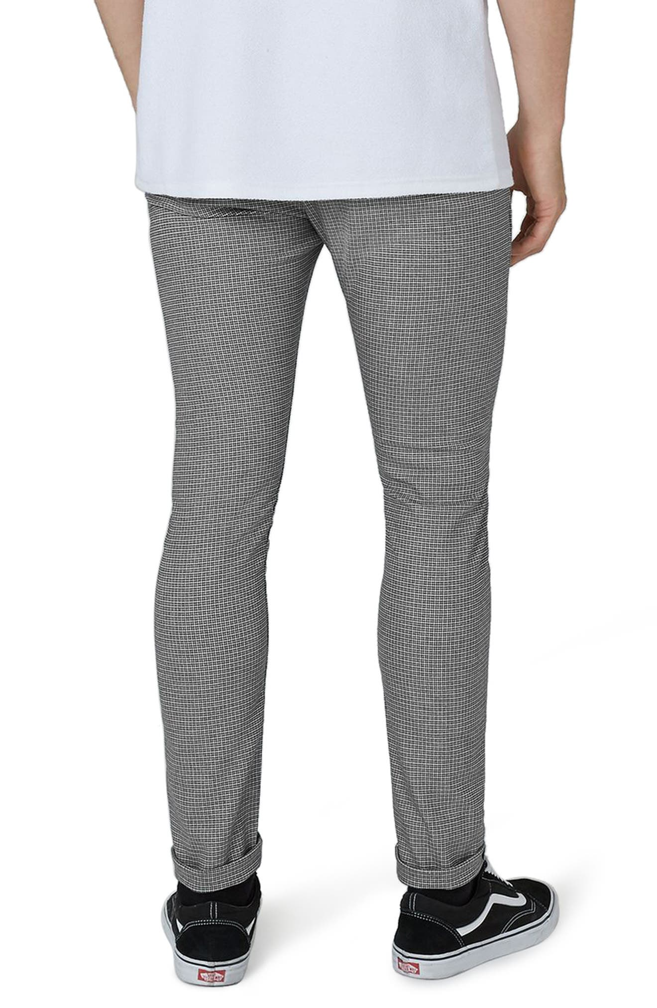 Mini Houndstooth Stretch Skinny Fit Trousers,                             Alternate thumbnail 2, color,                             Grey Multi