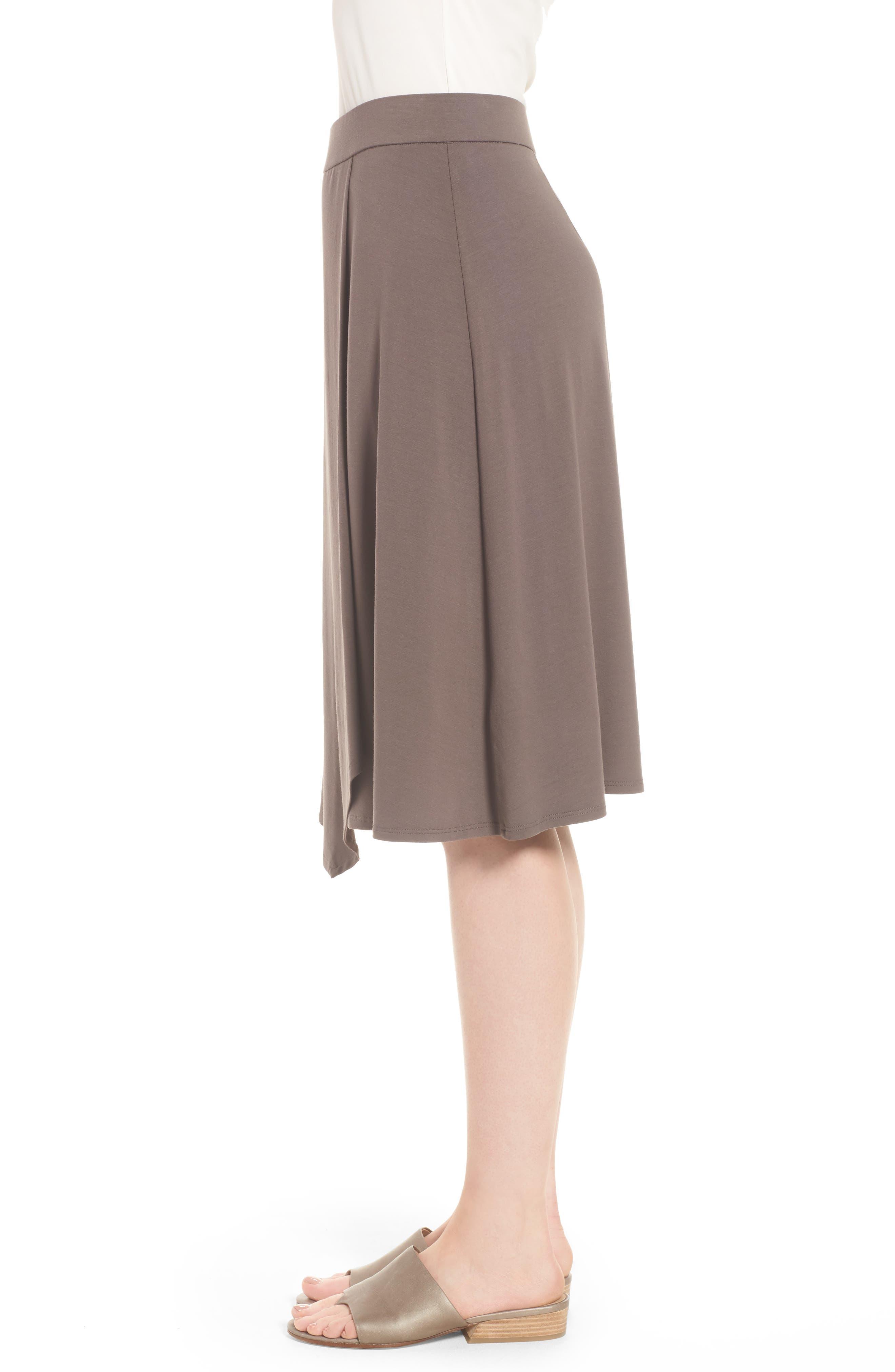 Faux Wrap Jersey Skirt,                             Alternate thumbnail 3, color,                             Rye