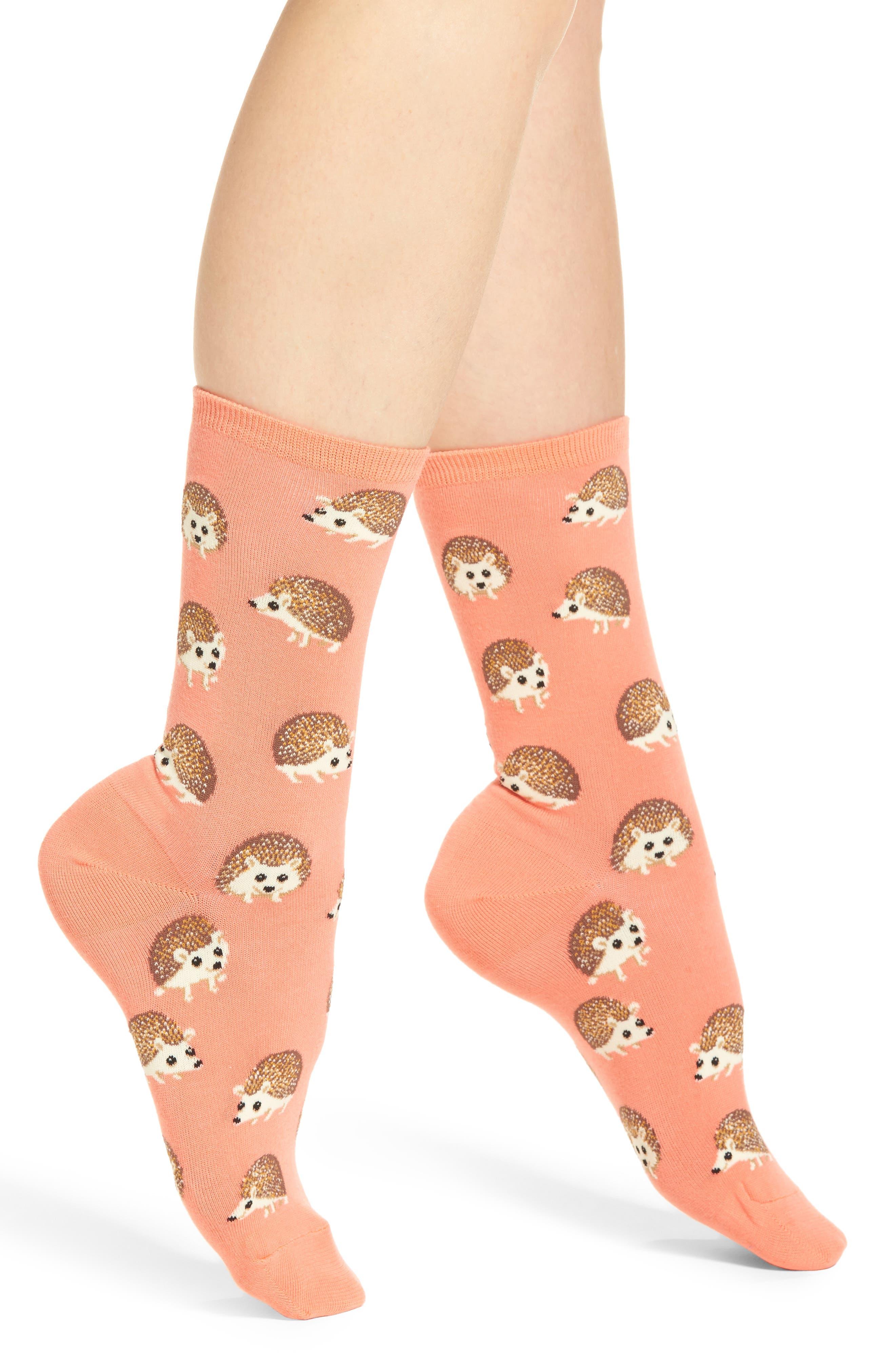 Hot Sox Hedgehog Crew Socks (3 for $15)