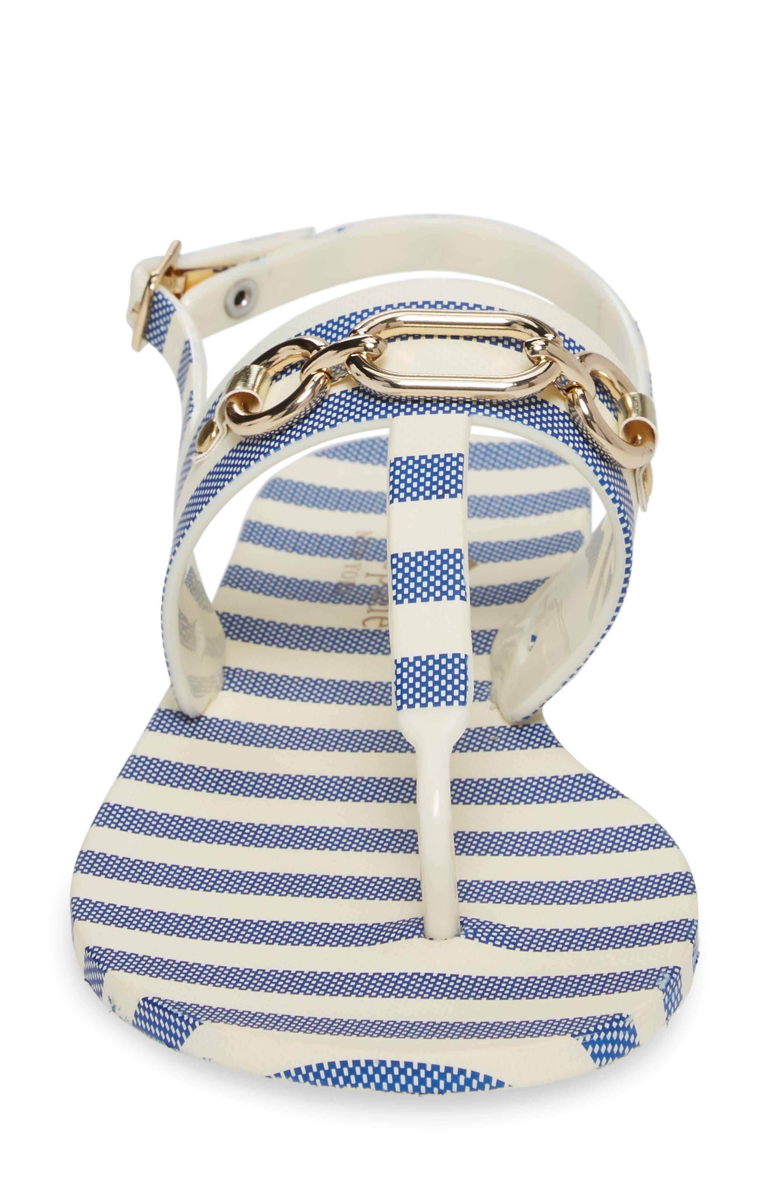 polly slingback sandal,                             Alternate thumbnail 4, color,                             Blue/ Cream