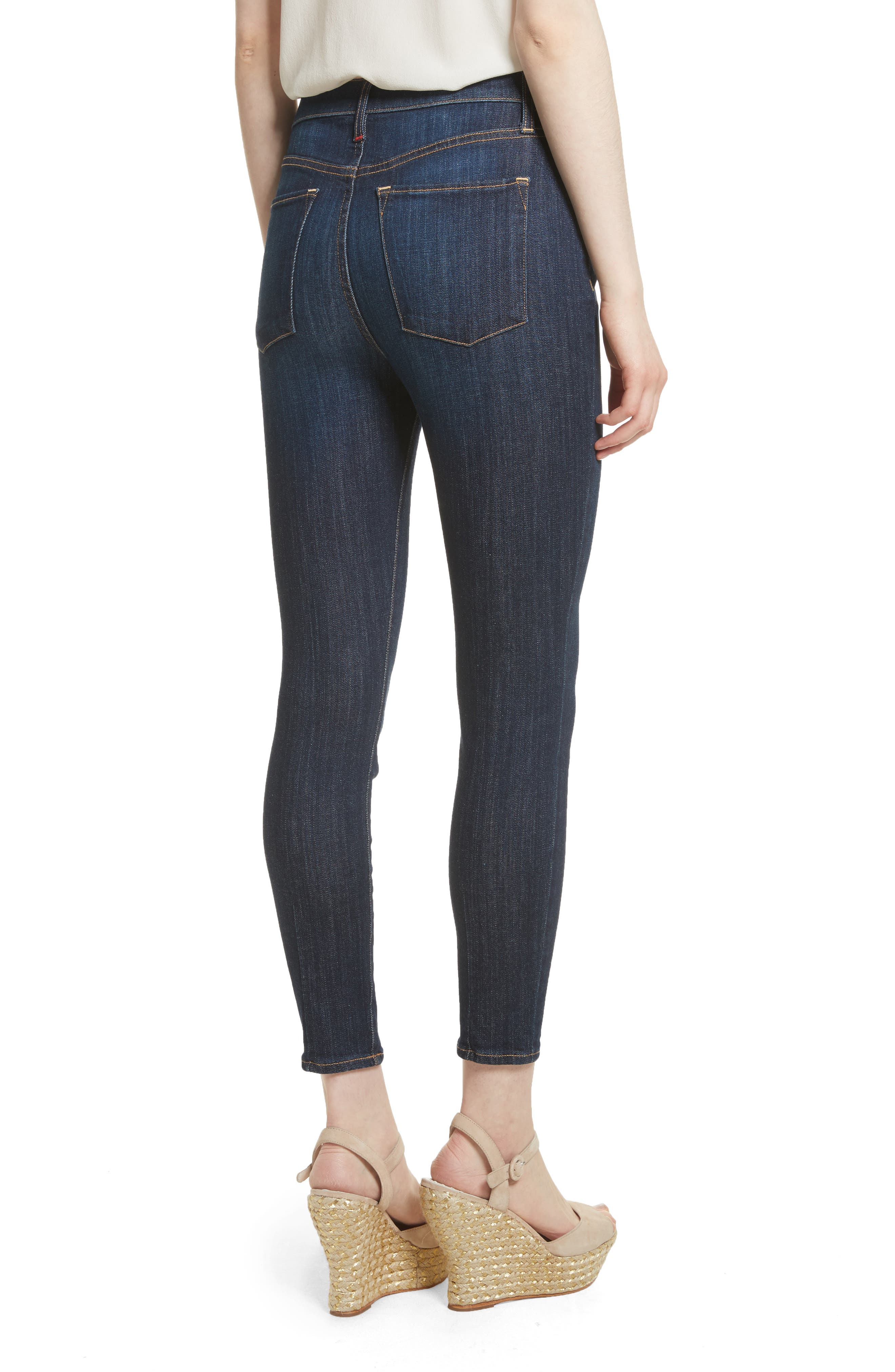 AO.LA Good High Waist Exposed Button Skinny Jeans,                             Alternate thumbnail 2, color,                             Dream On