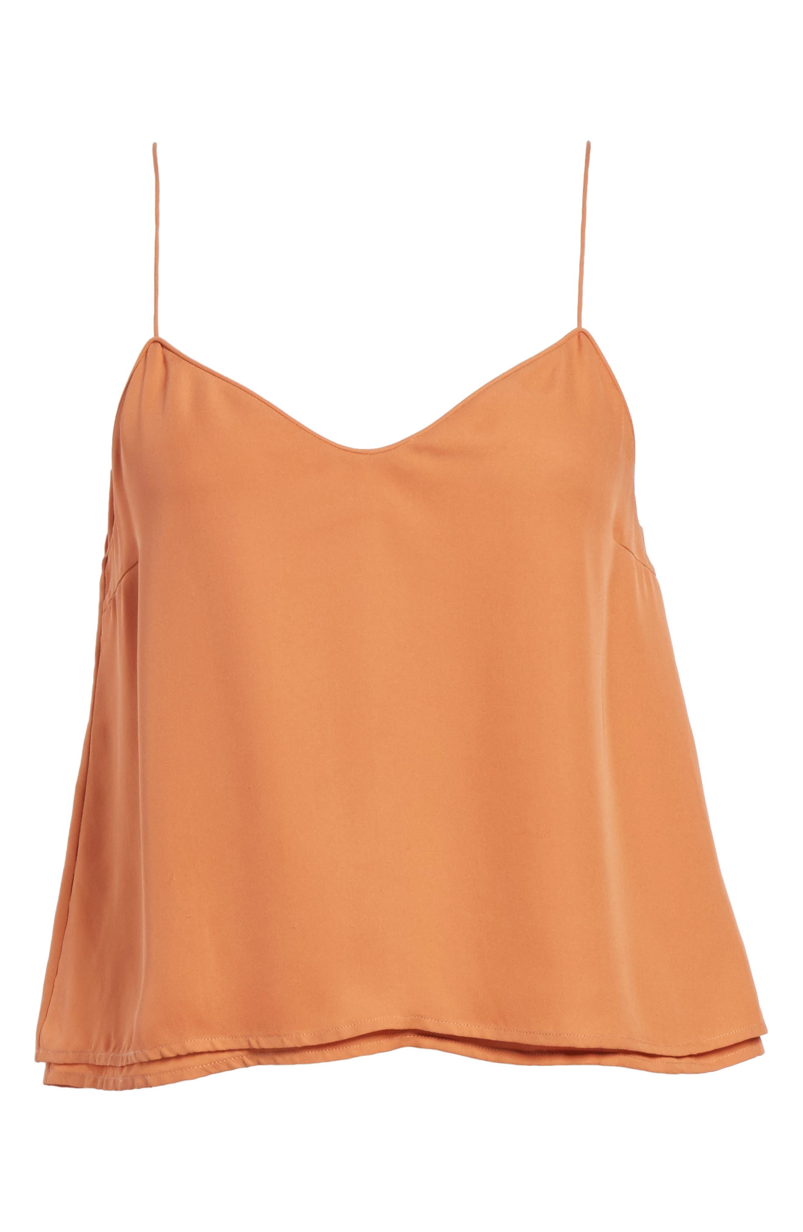 Sonya Silk Camisole,                             Alternate thumbnail 6, color,                             Copper