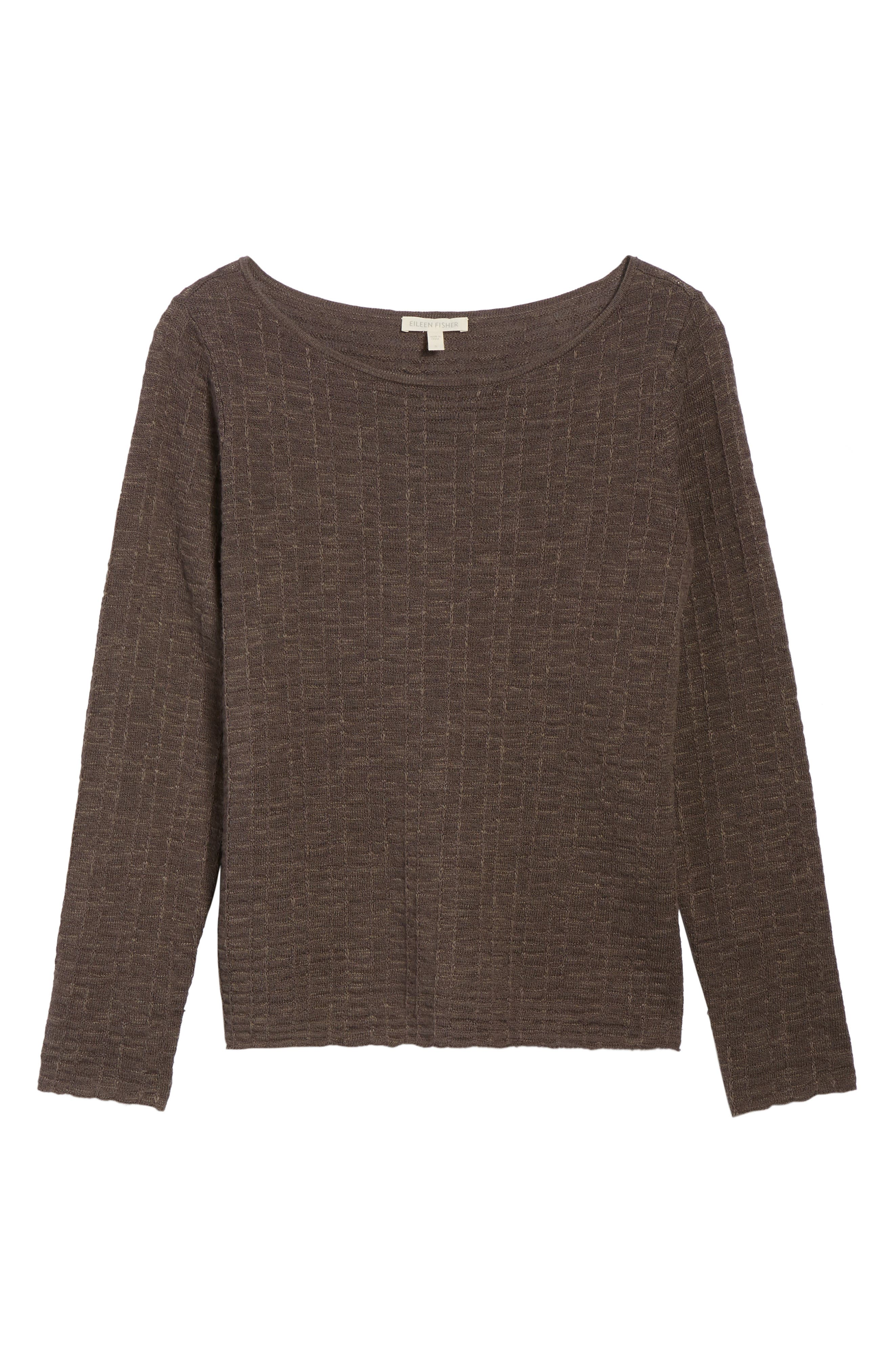 Organic Linen & Cotton Sweater,                             Alternate thumbnail 6, color,                             Rye