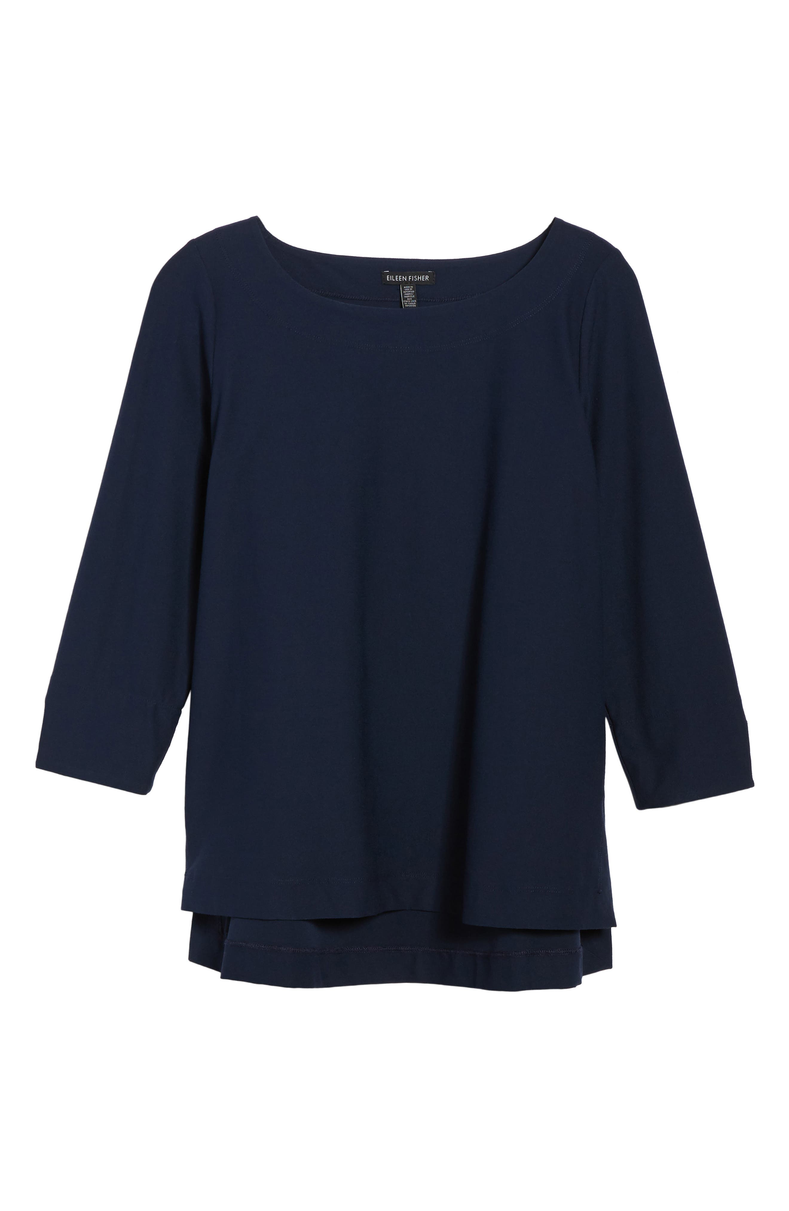 Boxy Jersey Top,                             Alternate thumbnail 6, color,                             Midnight