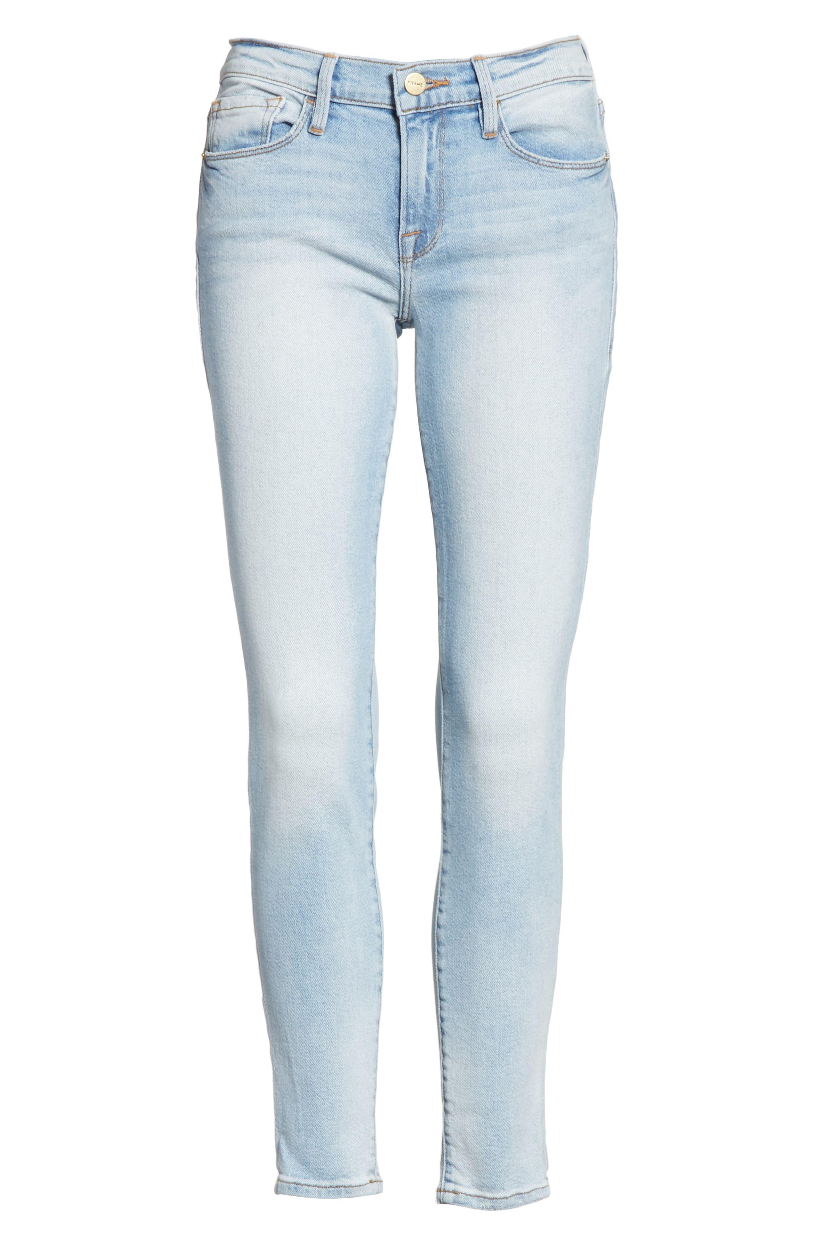 Le Skinny de Jeanne Ankle Jeans,                             Alternate thumbnail 6, color,                             Adeline