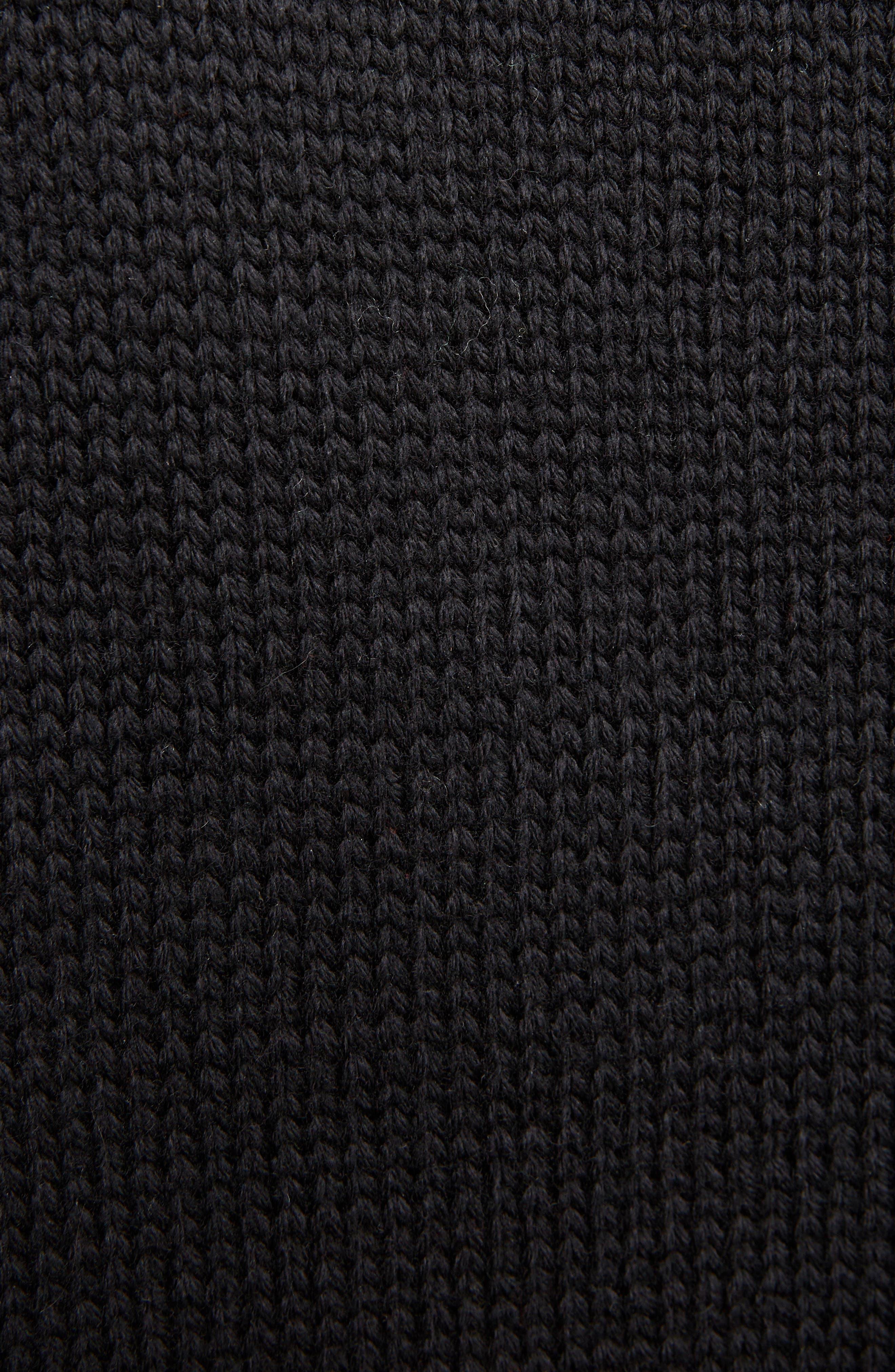 Palm Lady Sweater Tank,                             Alternate thumbnail 5, color,                             Black