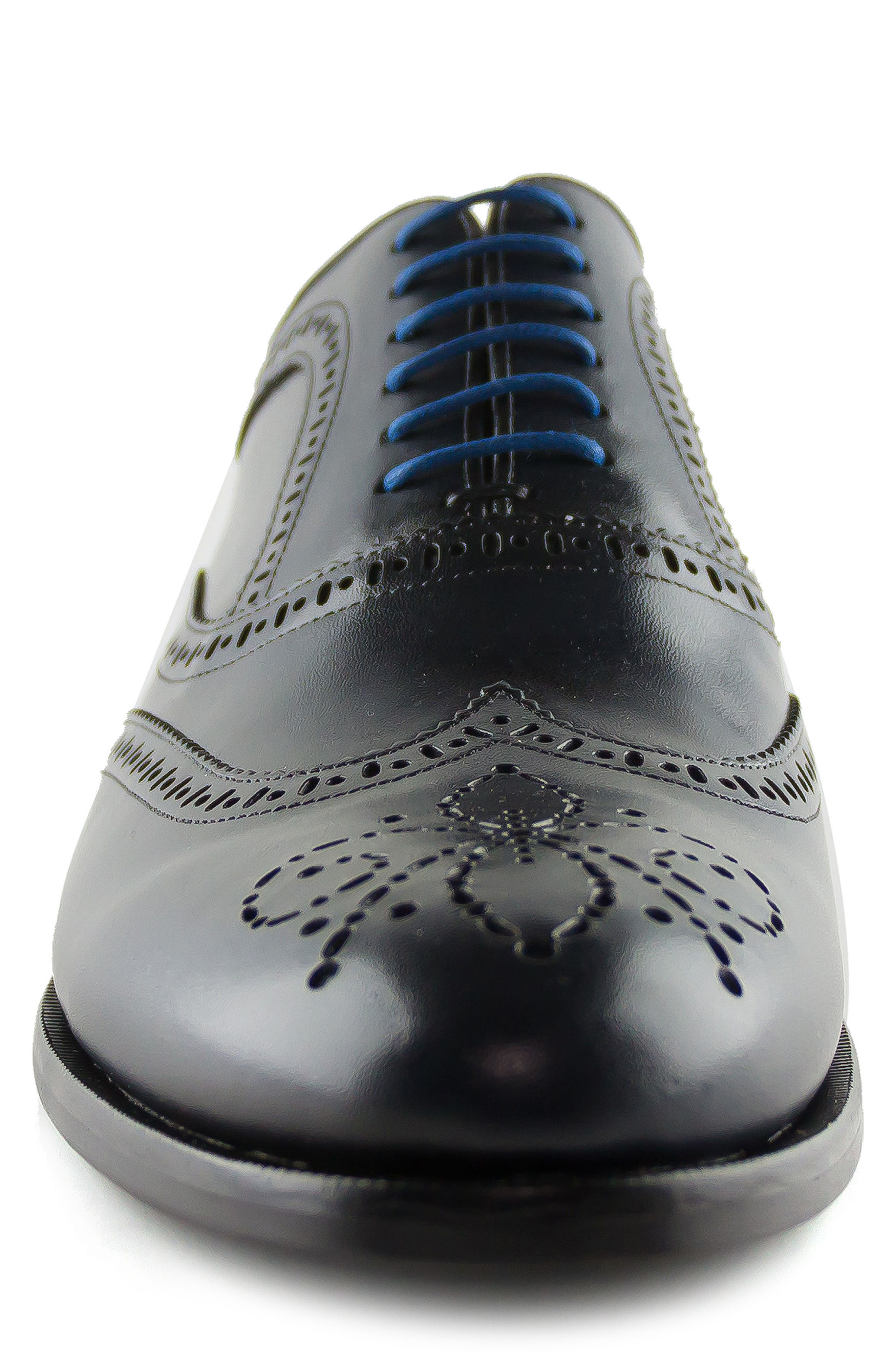Madison Wingtip Oxford,                             Alternate thumbnail 4, color,                             Navy
