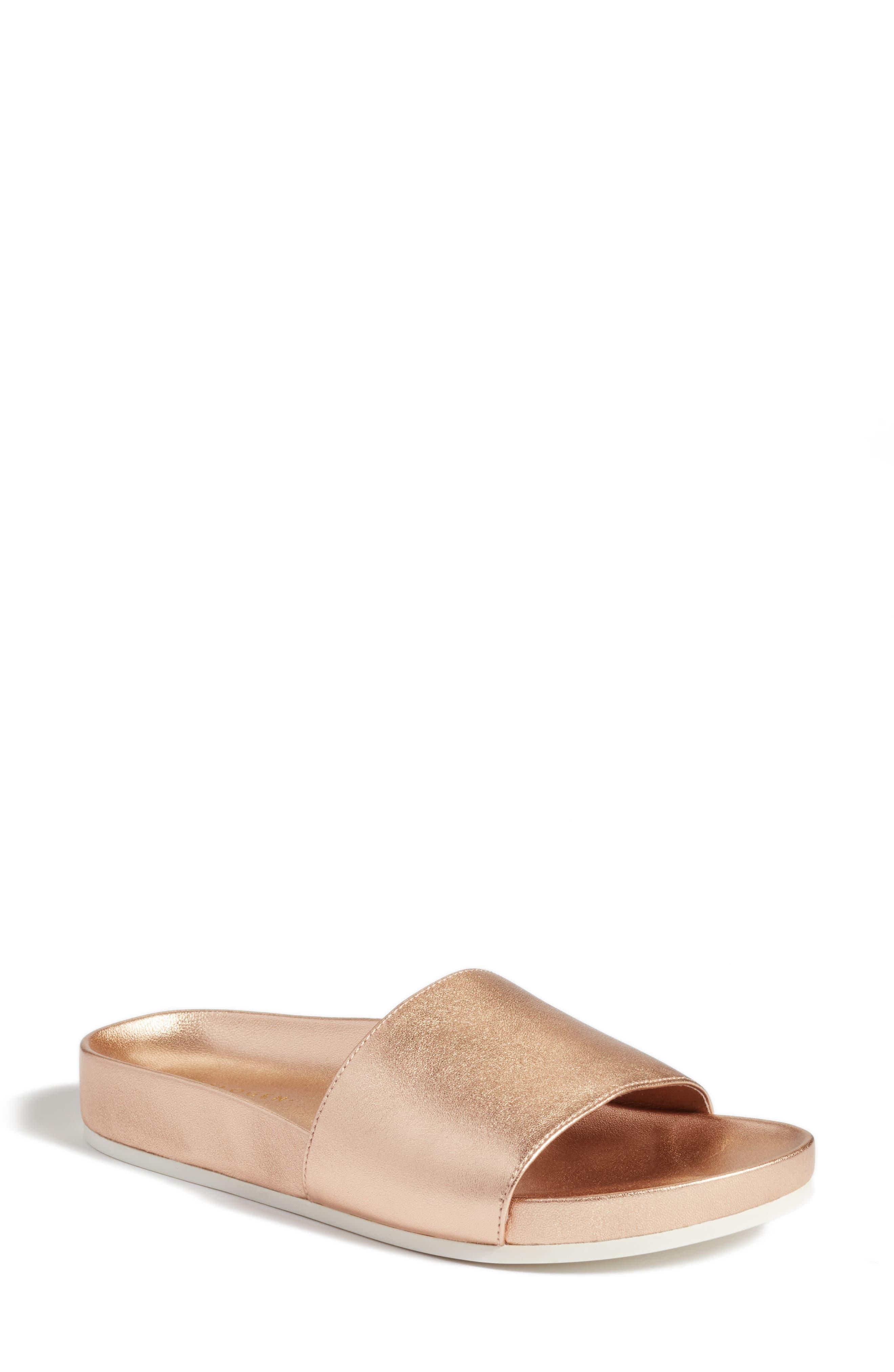Halogen® Paulina Slide Sandal (Women)