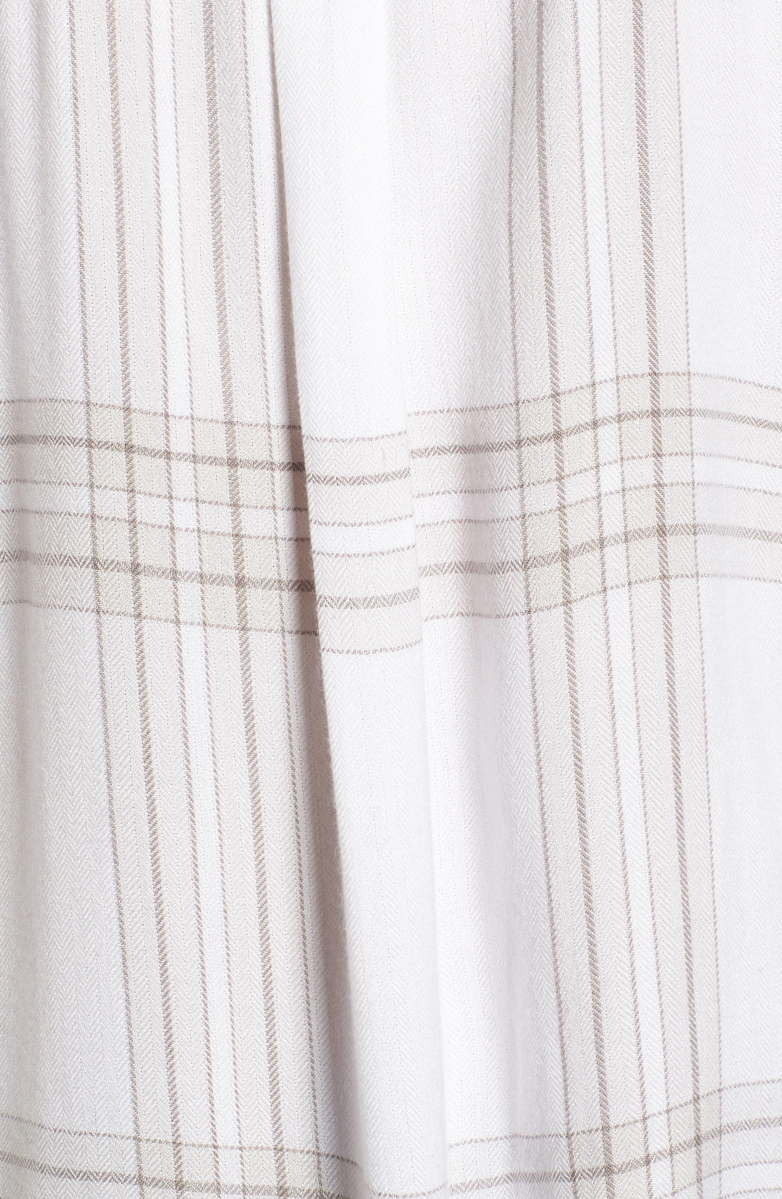 Drapey Plaid Shirt,                             Alternate thumbnail 5, color,                             Grey Ombre Open Window
