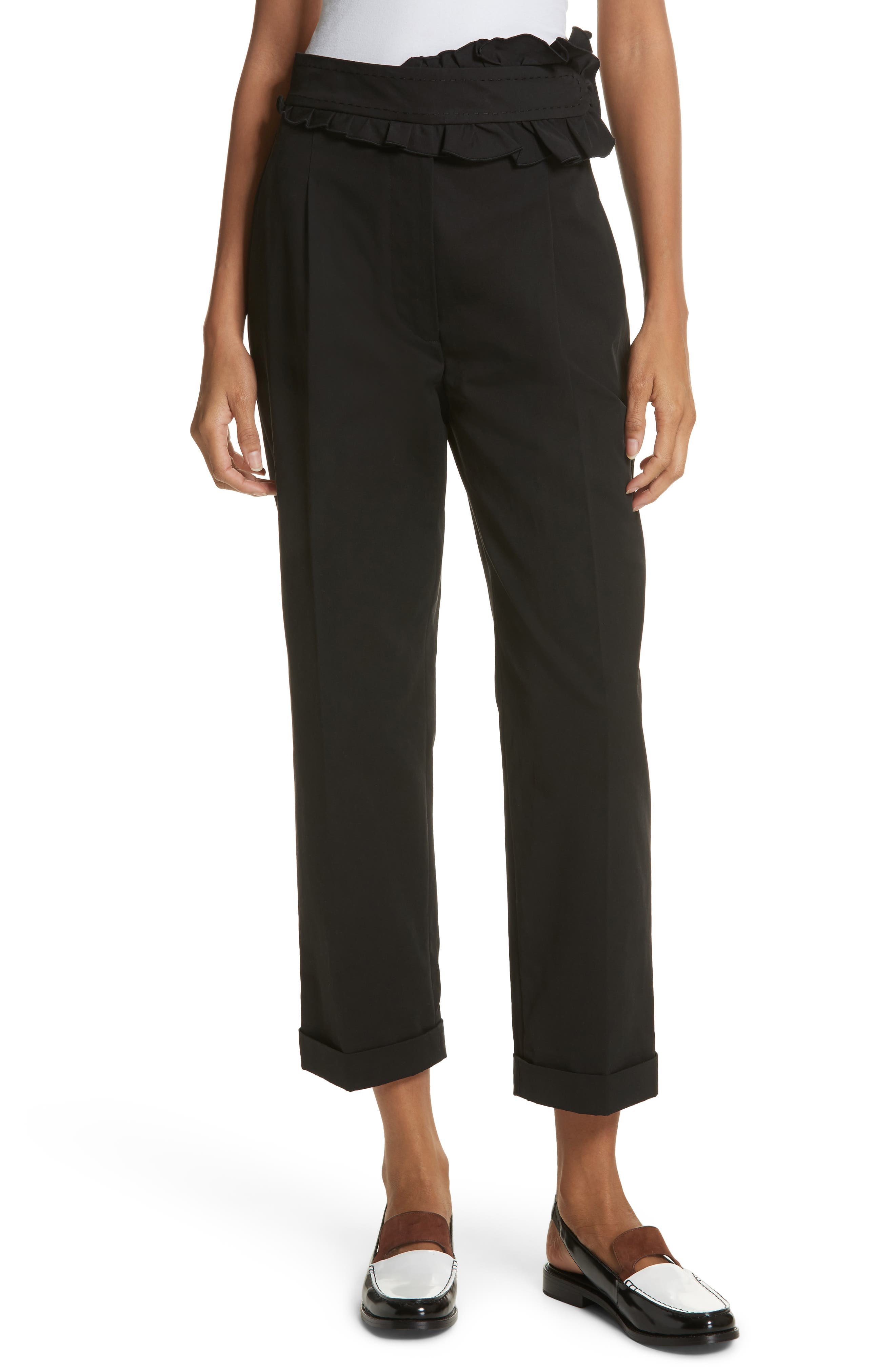 Carven Ruffle Waist Crop Pants