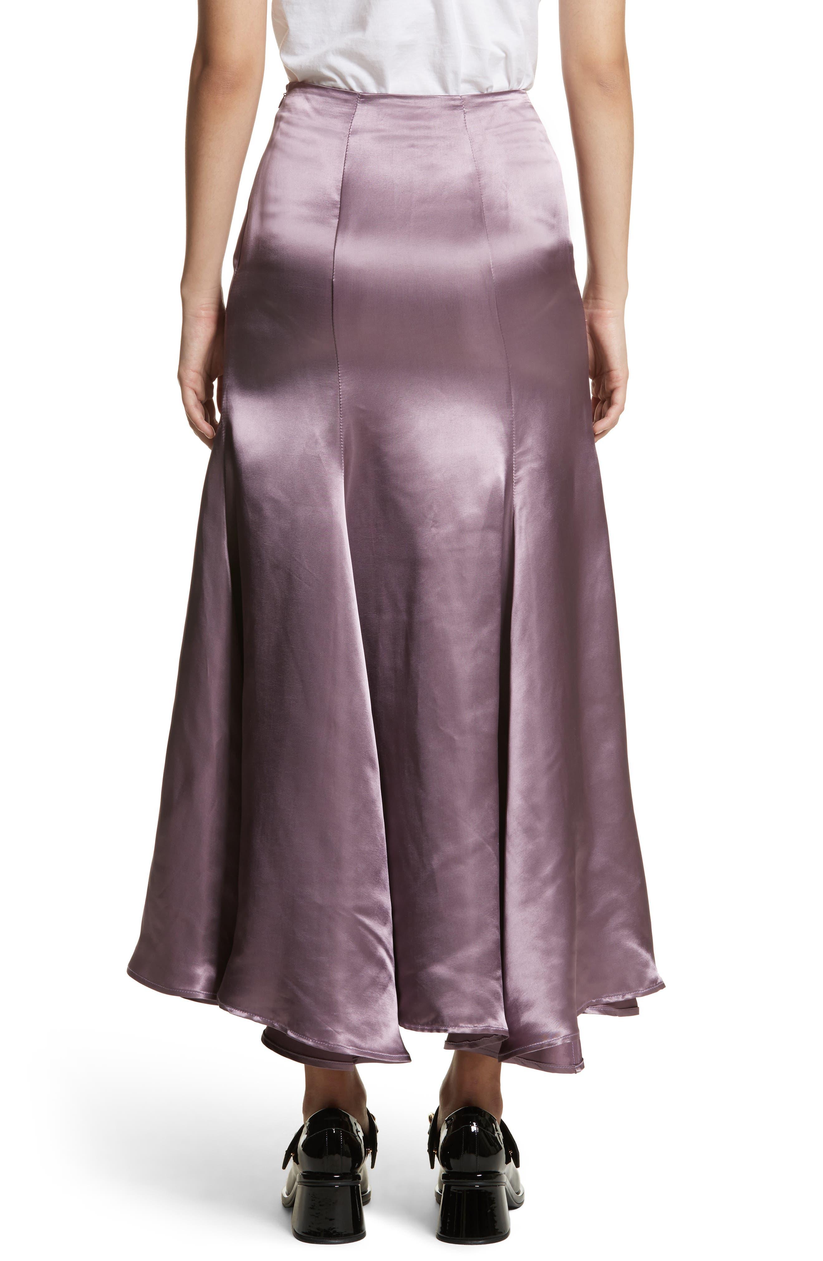 Cassini Satin Slip Skirt,                             Alternate thumbnail 2, color,                             Violet