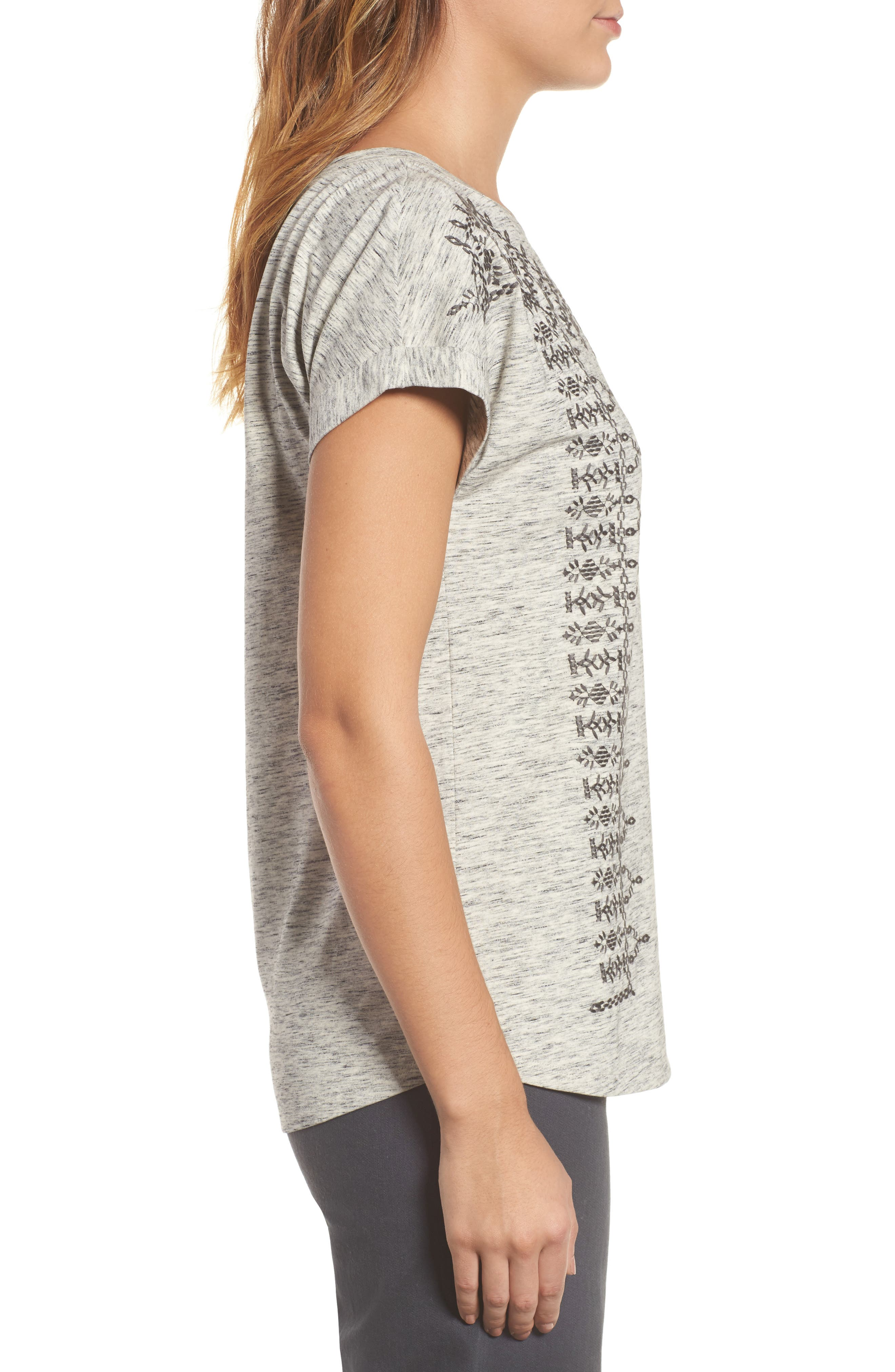 Alternate Image 3  - NIC+ZOE Henna Short Sleeve Top (Regular & Petite)