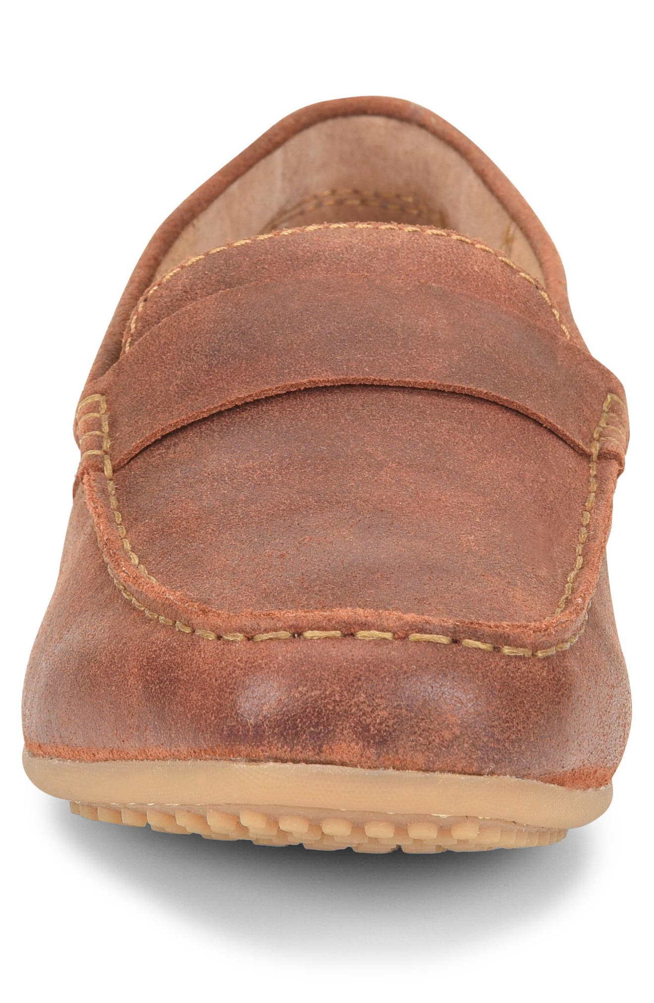 Ratner Driving Loafer,                             Alternate thumbnail 3, color,                             Rust Leather