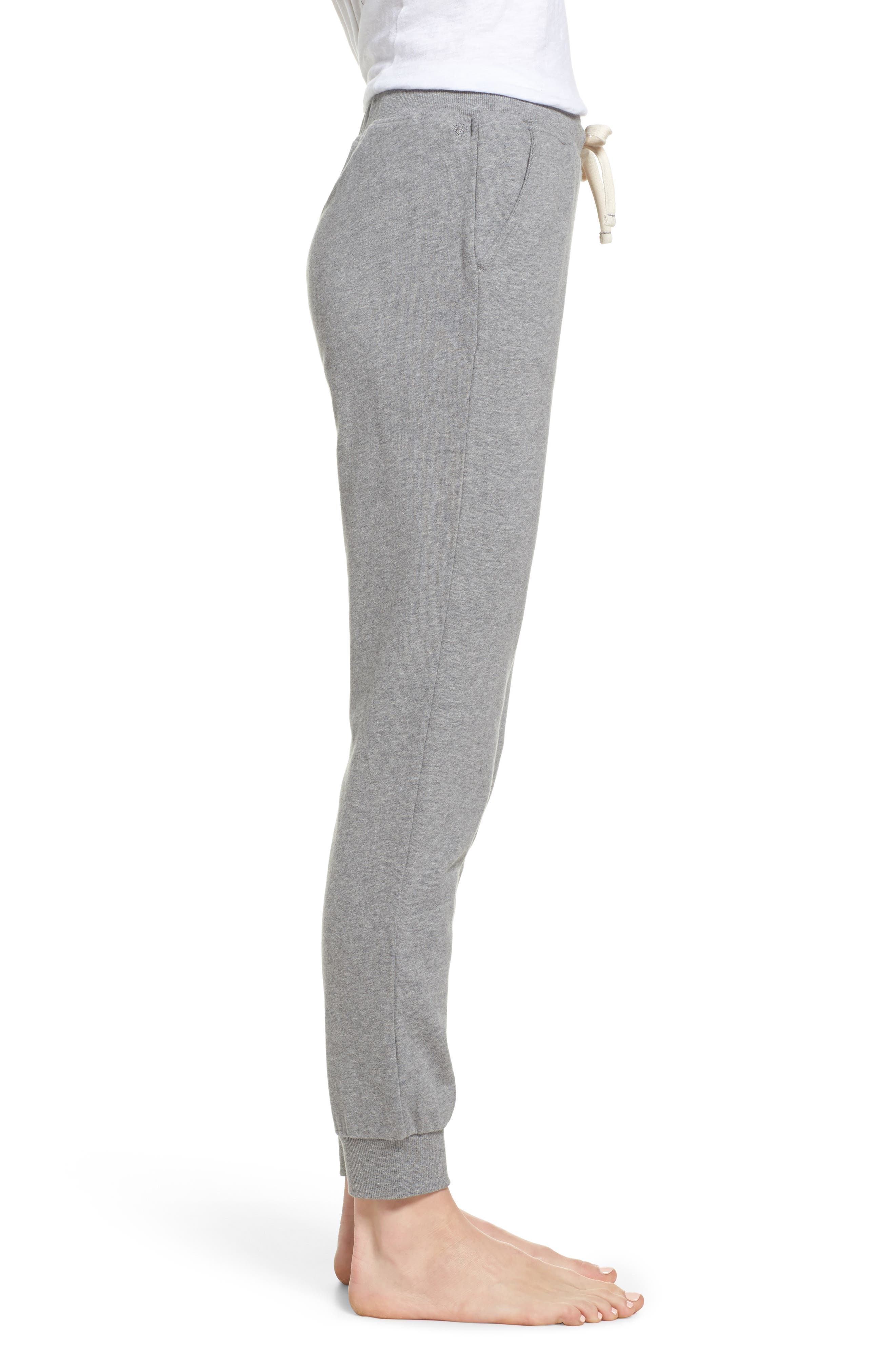 Babe Jogger Pants,                             Alternate thumbnail 3, color,                             Heather Grey