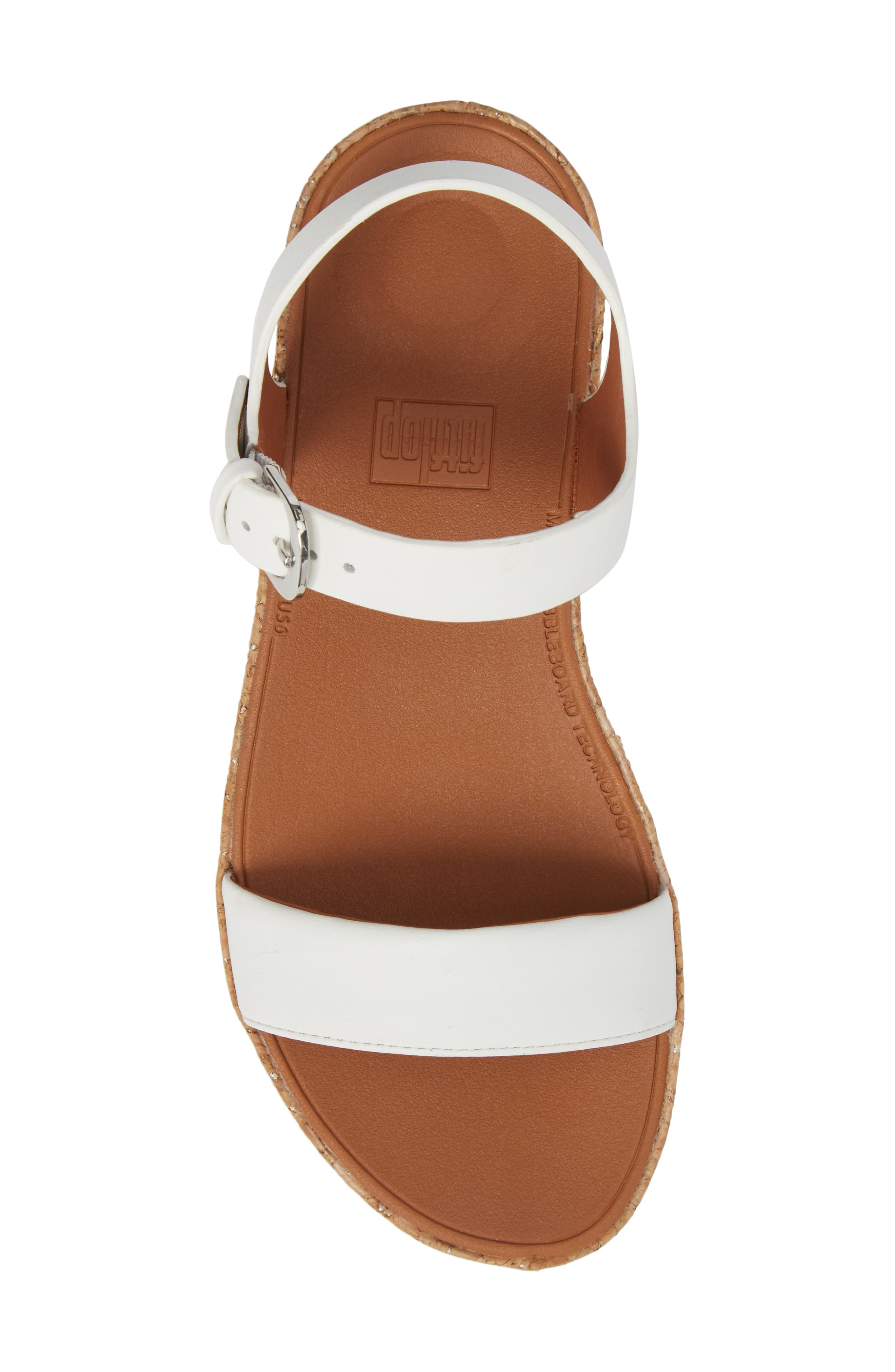 Bon II Platform Sandal,                             Alternate thumbnail 5, color,                             Urban White Leather