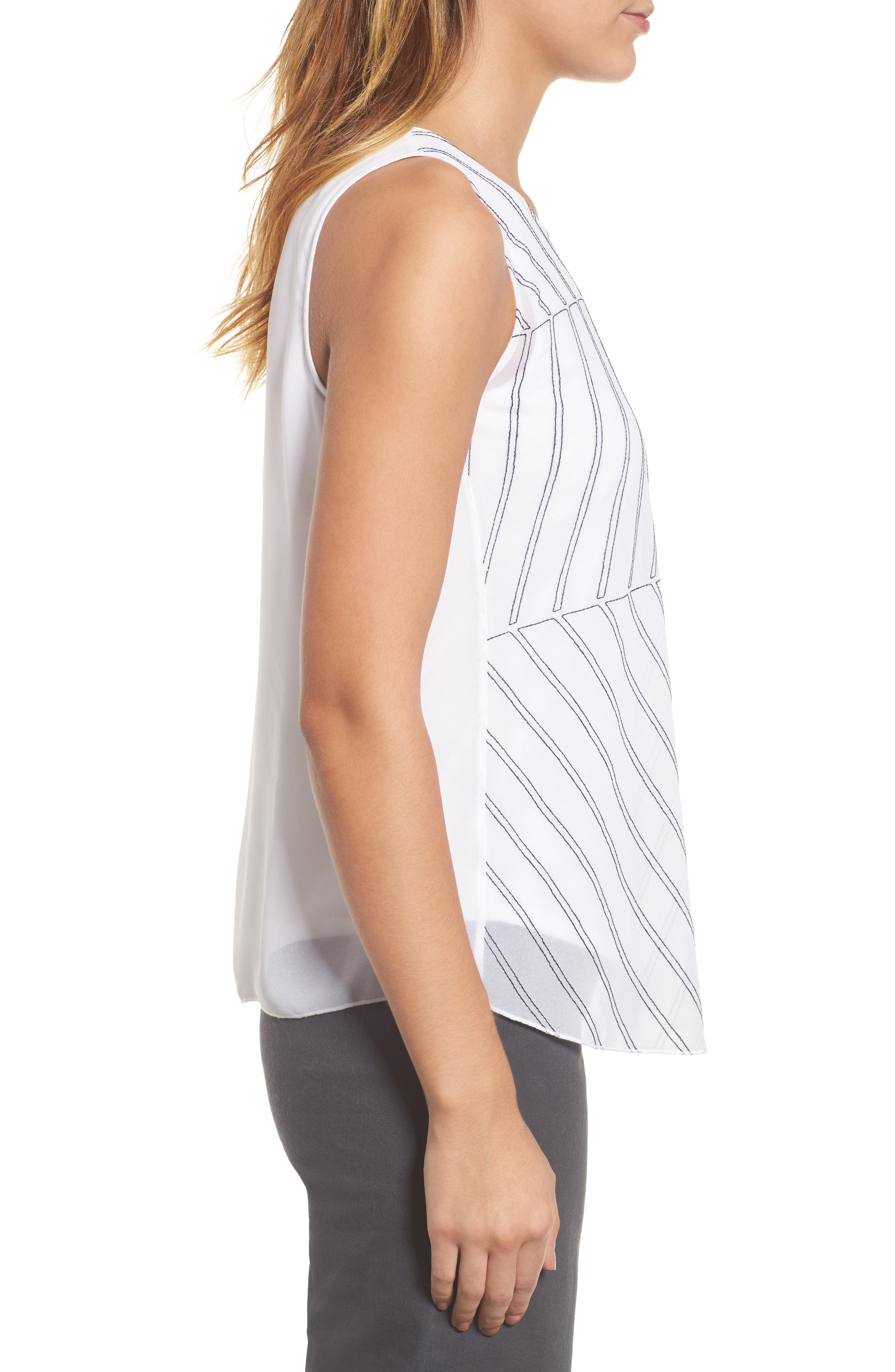 Heat Retreat Layered Tank,                             Alternate thumbnail 3, color,                             Paper White