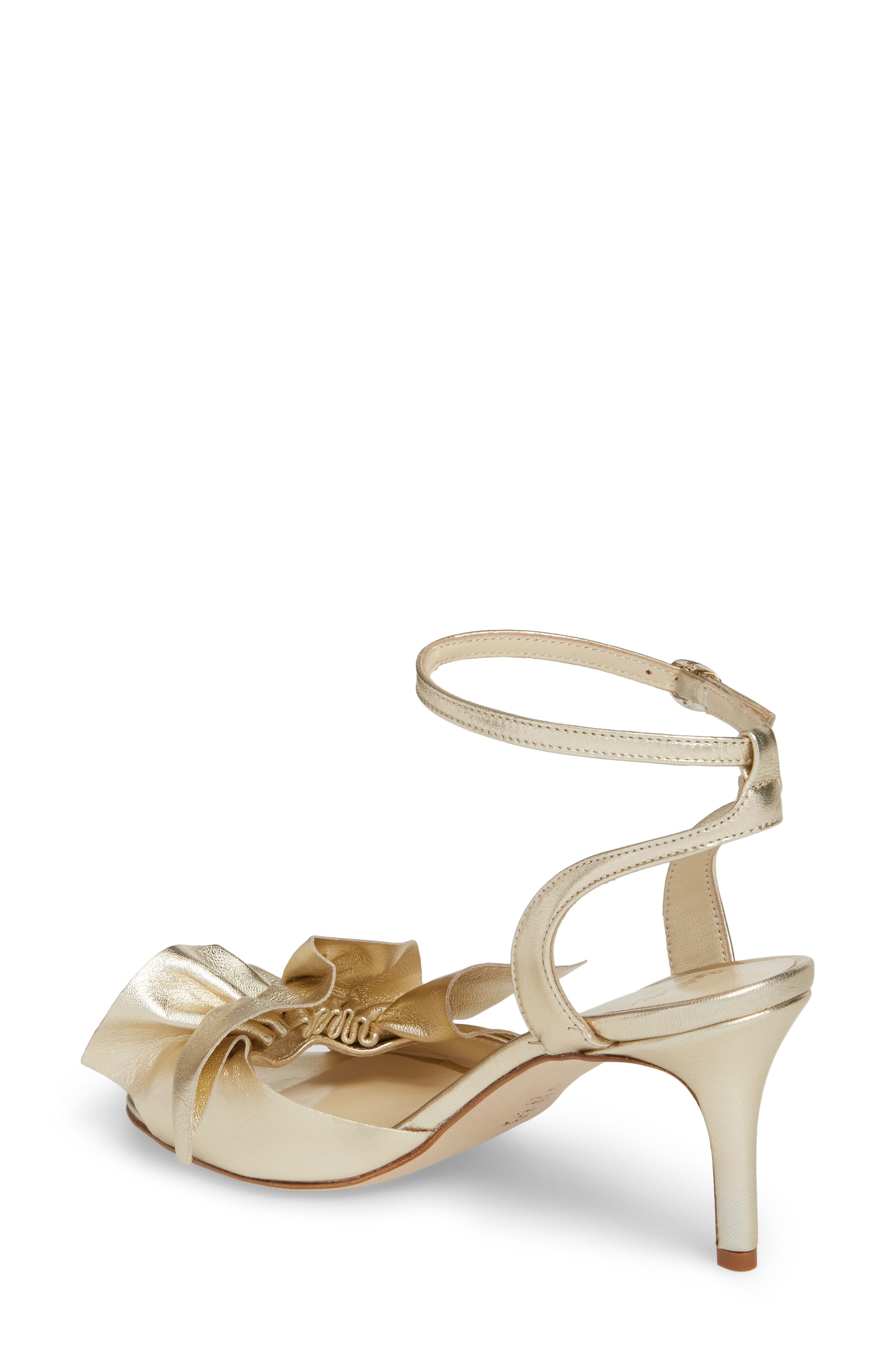 Butter Gem Embellished Ankle Strap Sandal,                             Alternate thumbnail 2, color,                             Platino Napa