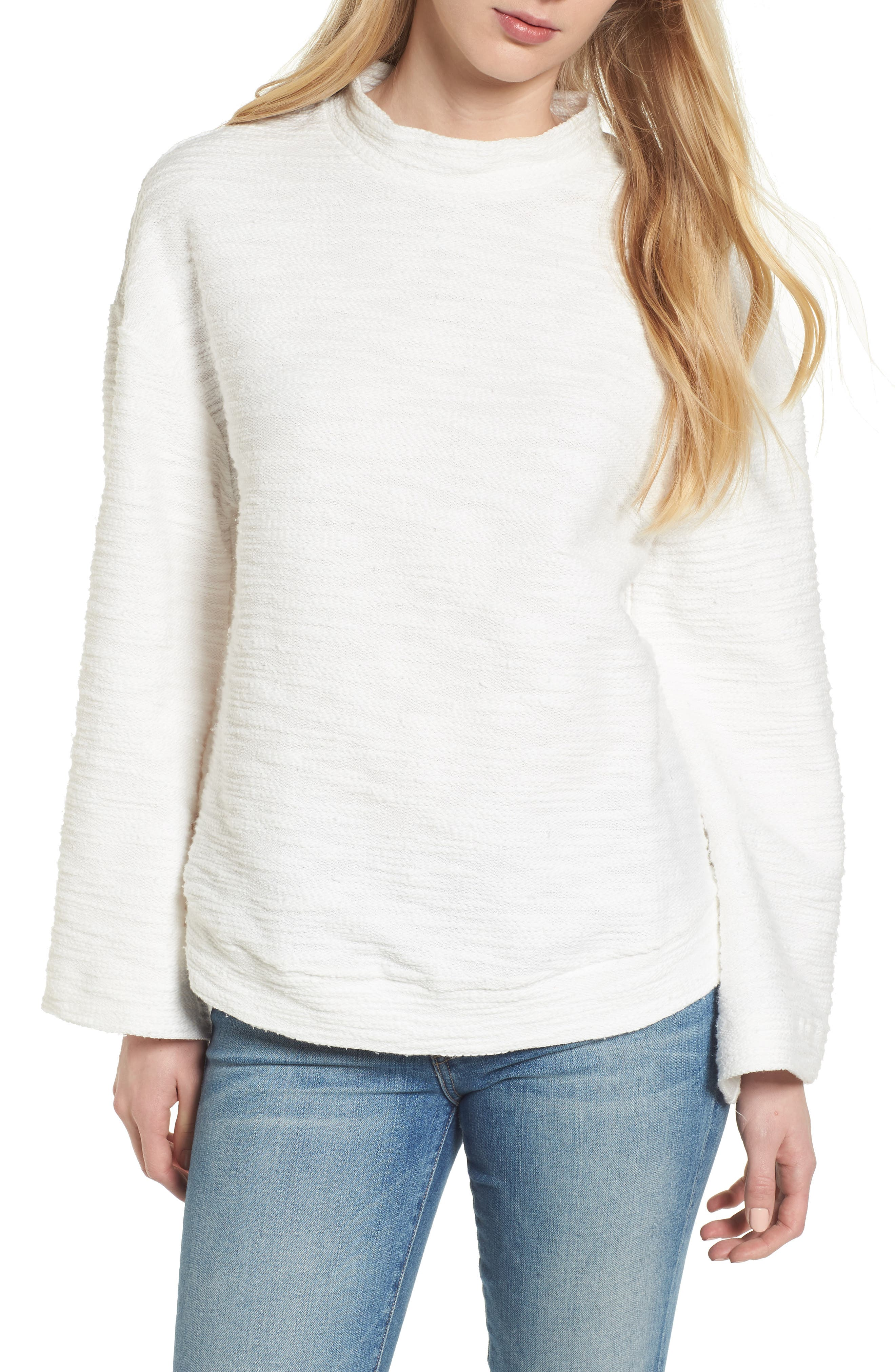 Bishop + Young No Sweat Pullover,                             Main thumbnail 1, color,                             Ivory