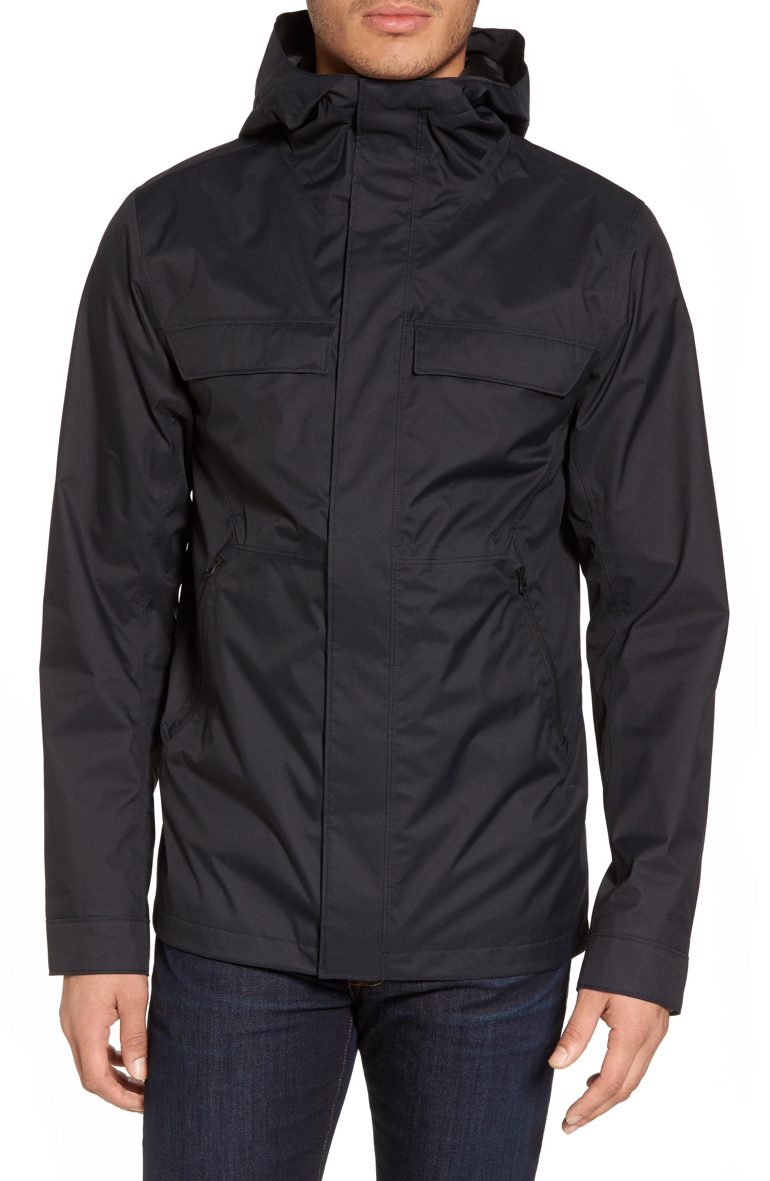 Jenison II Insulated Waterproof Jacket,                             Alternate thumbnail 4, color,                             Tnf Black