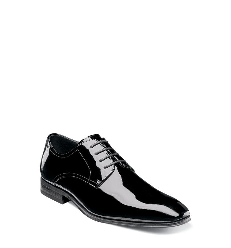 Tux Plain Toe Derby,                         Main,                         color, Black Patent Leather