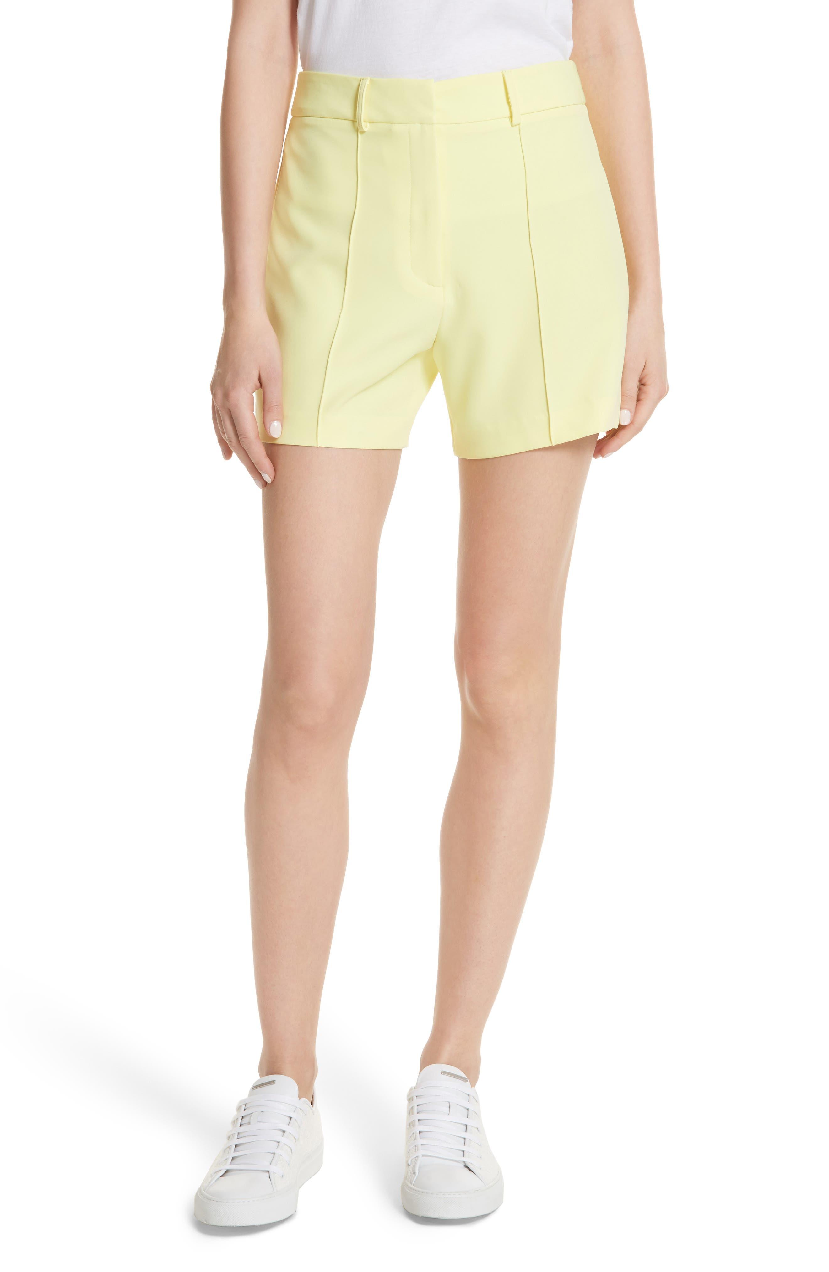 Hayden Trouser Shorts,                             Main thumbnail 1, color,                             Lemon Yellow