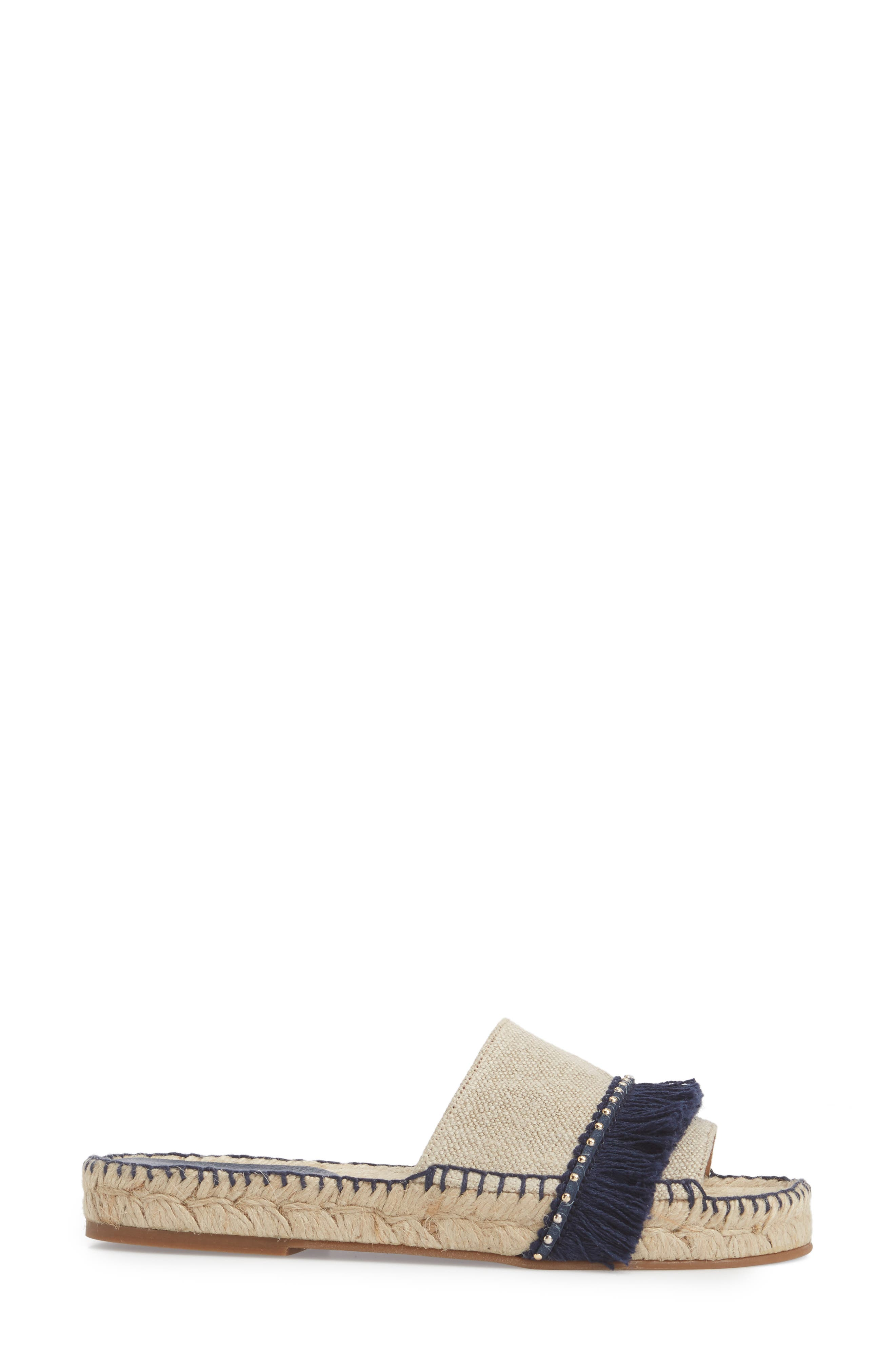Bahama Espadrille Sandal,                             Alternate thumbnail 3, color,                             Navy Leather