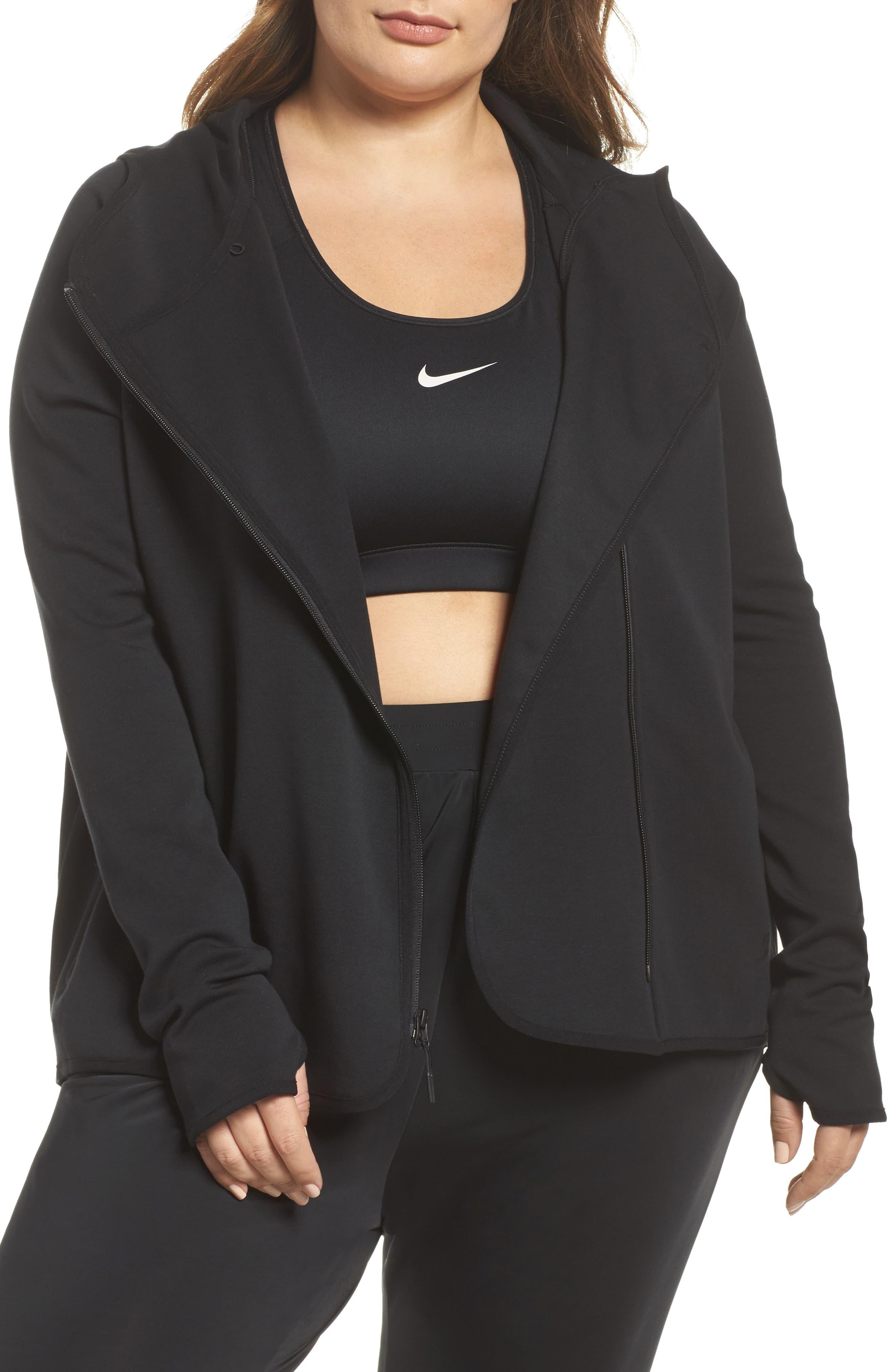 Sportswear Tech Fleece Zip Cape,                             Main thumbnail 1, color,                             Black/ Black