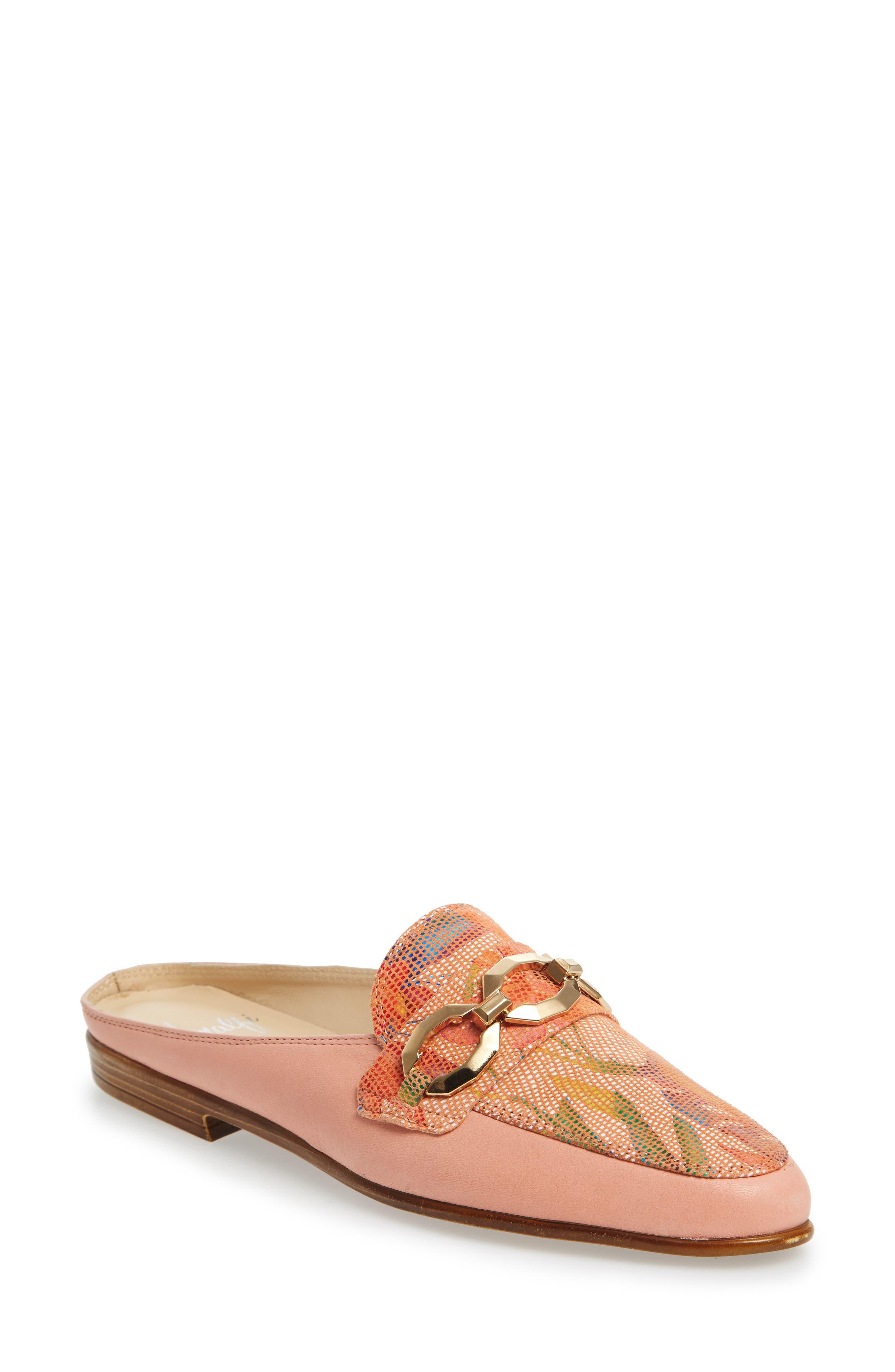 Almafi by Rangoni Otranto Loafer Slide,                             Main thumbnail 1, color,                             Rose Leather
