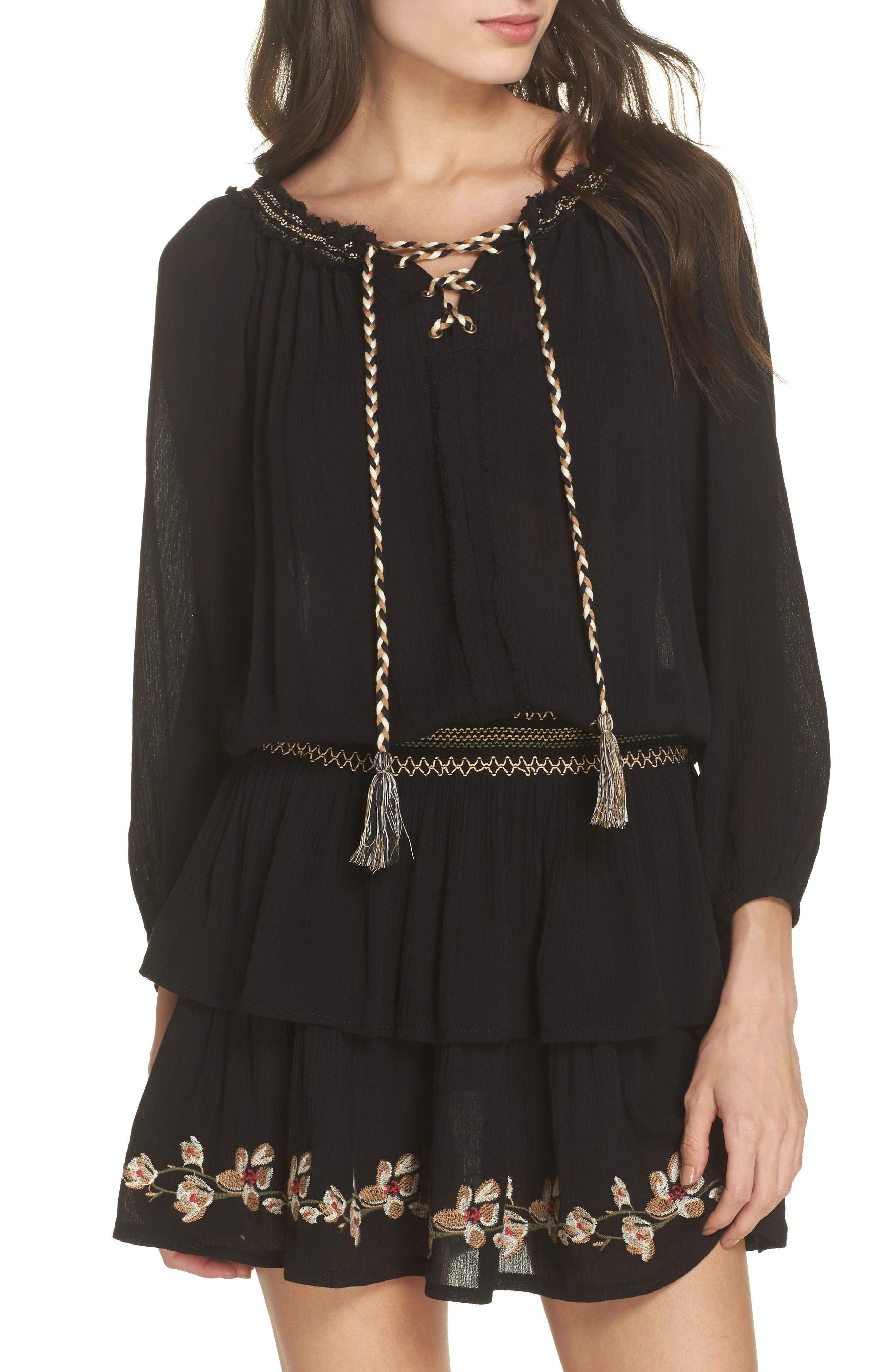 Surf Gypsy EMBROIDERED COVER-UP DRESS