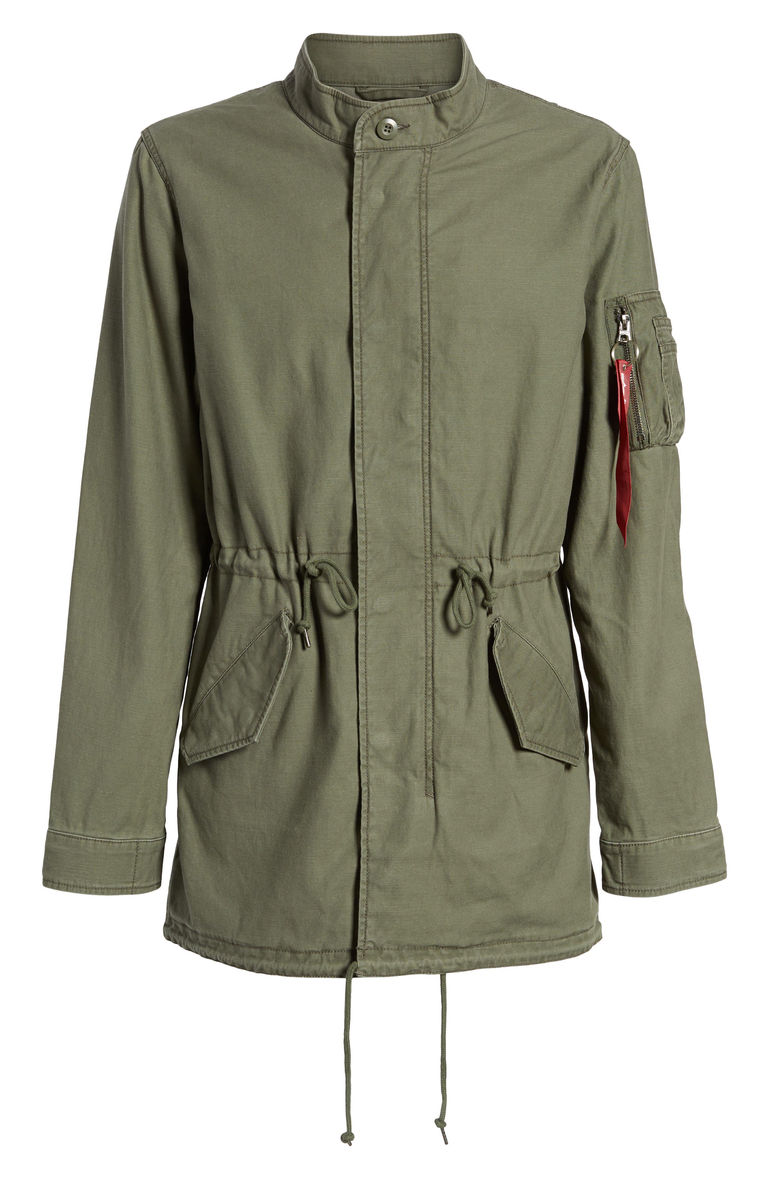 Recruit Fishtail Jacket,                             Alternate thumbnail 6, color,                             M-65 Olive