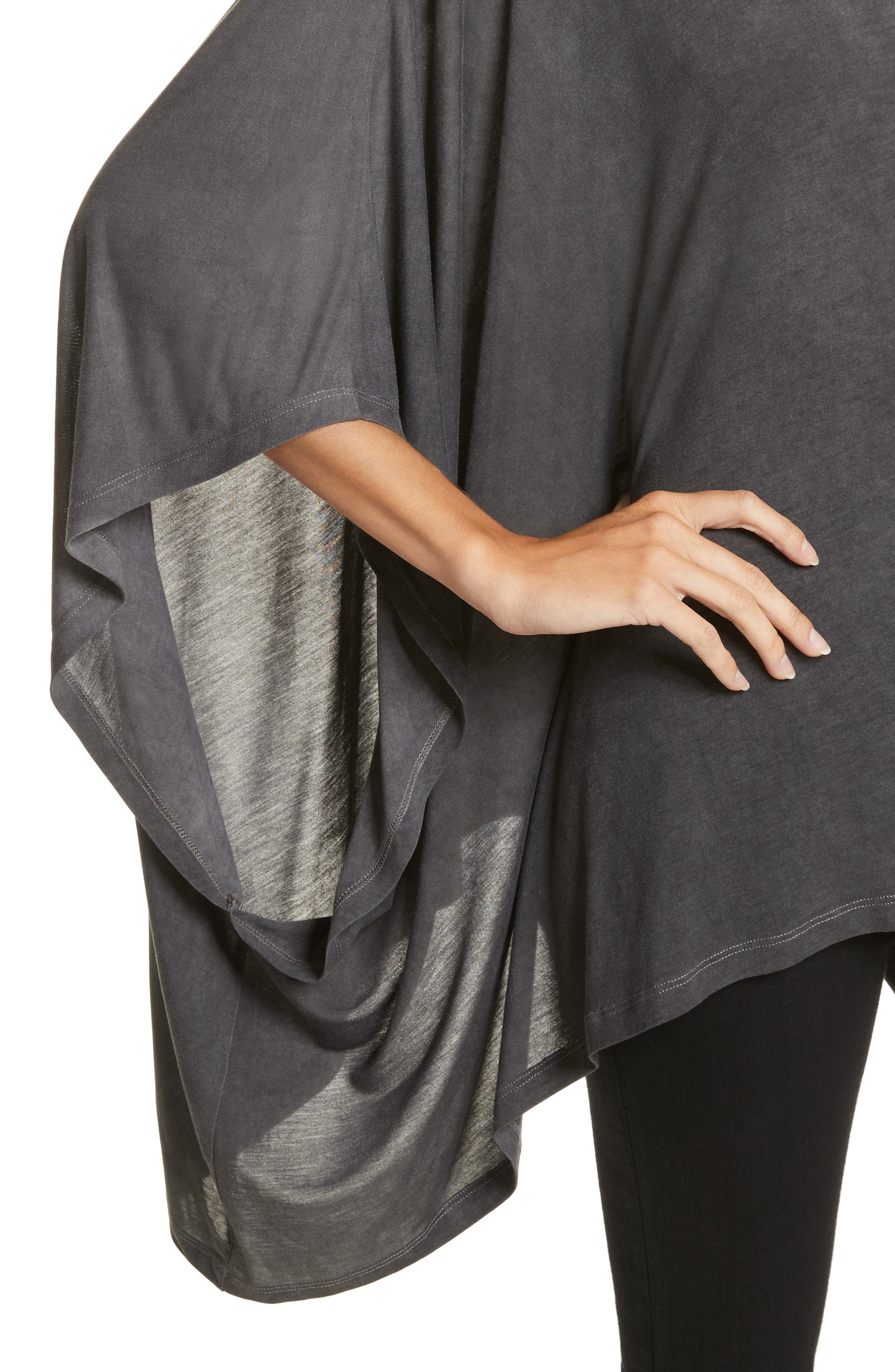 Eloaz Asymmetrical Draped Top,                             Alternate thumbnail 4, color,                             Charcoal